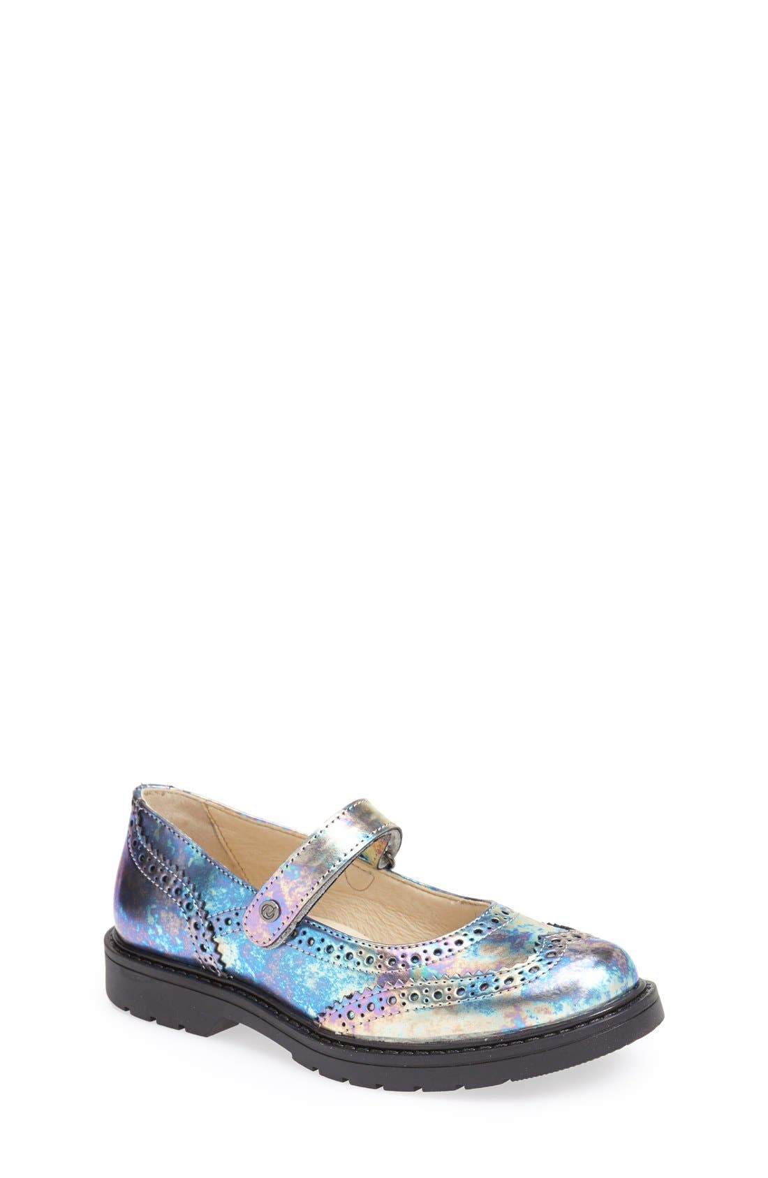 '4833' Leather Mary Jane Flat,                         Main,                         color, 040