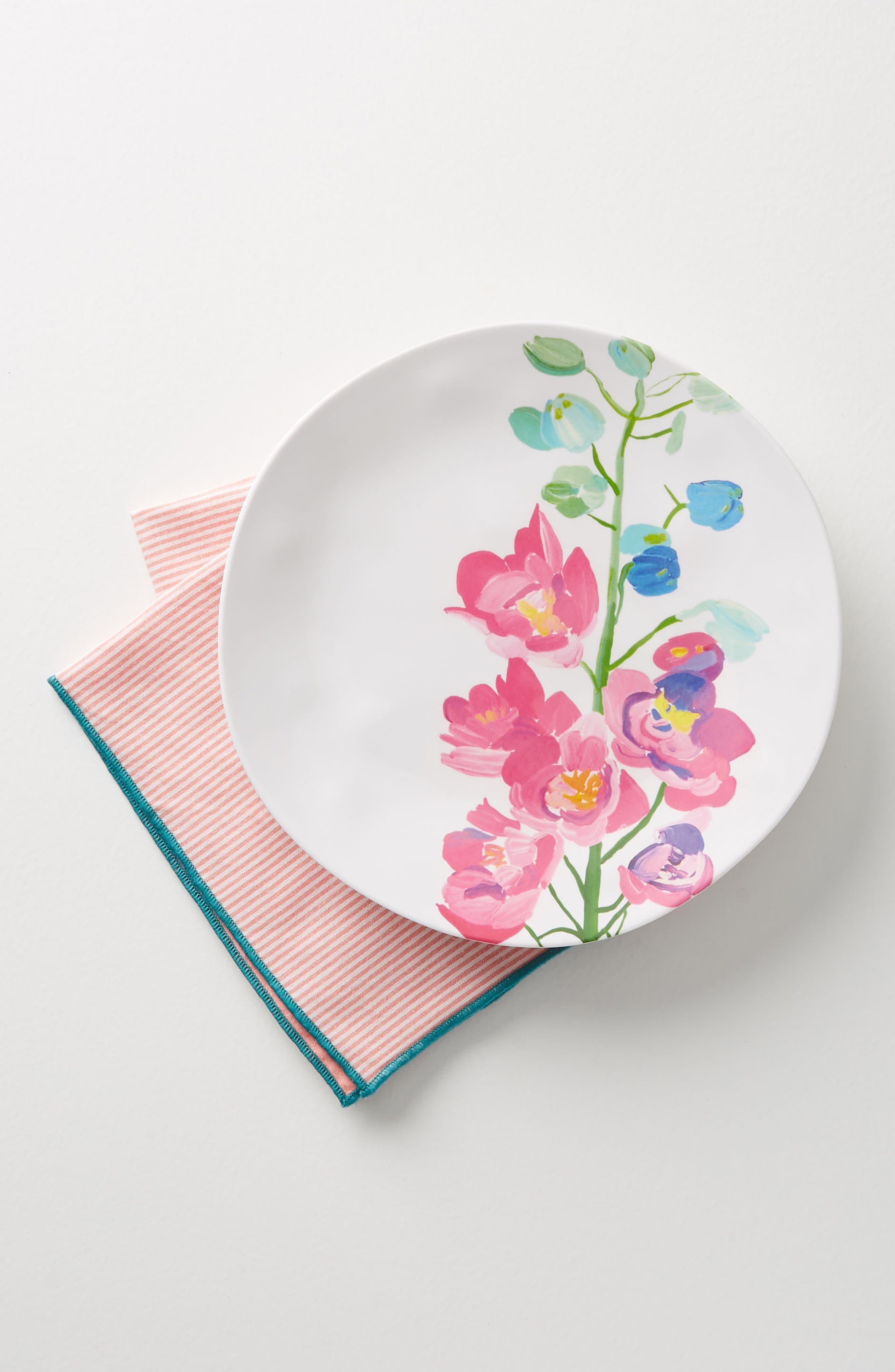 Paint + Petals Melamine Plate,                             Alternate thumbnail 2, color,                             105