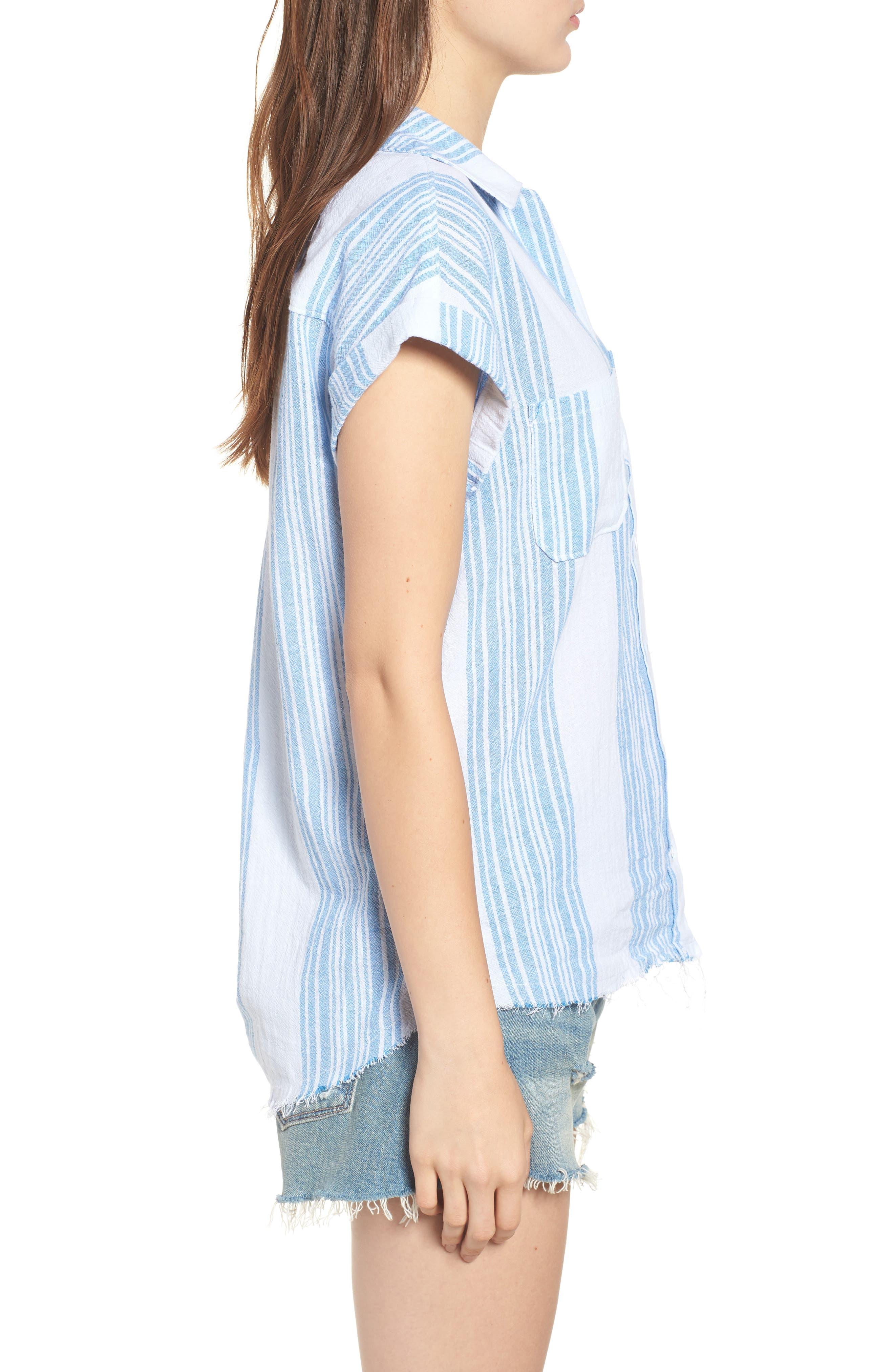 Stripe Camp Shirt,                             Alternate thumbnail 3, color,                             400