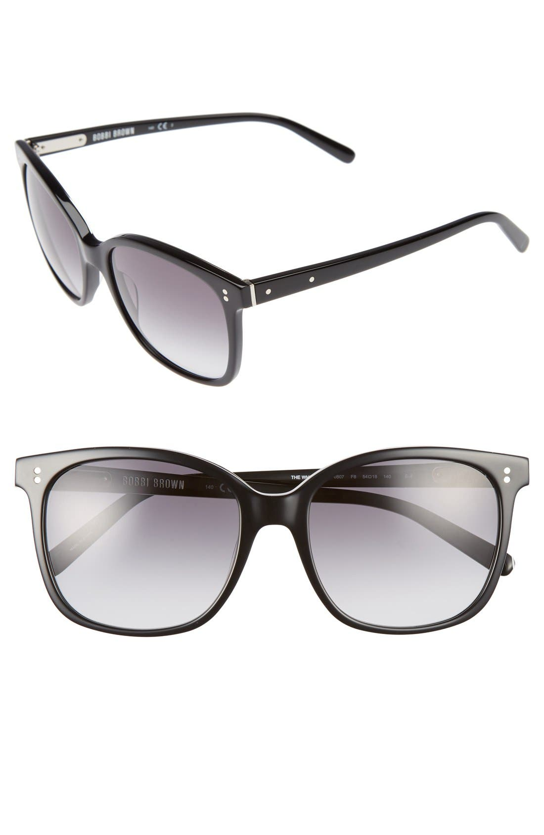The Whitner 54mm Sunglasses,                             Main thumbnail 1, color,                             001