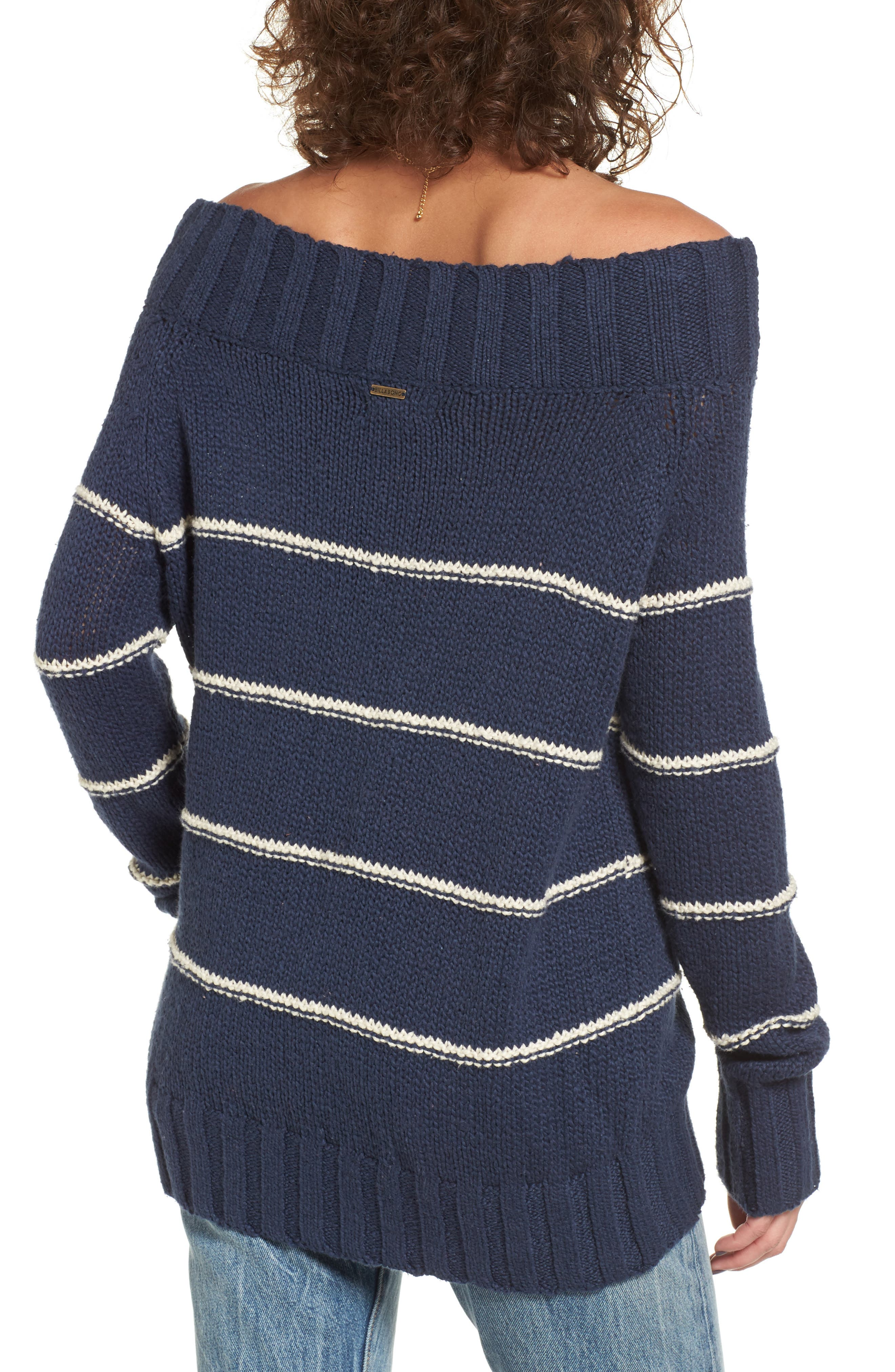 BILLABONG,                             Snuggle Down Off the Shoulder Sweater,                             Alternate thumbnail 2, color,                             400
