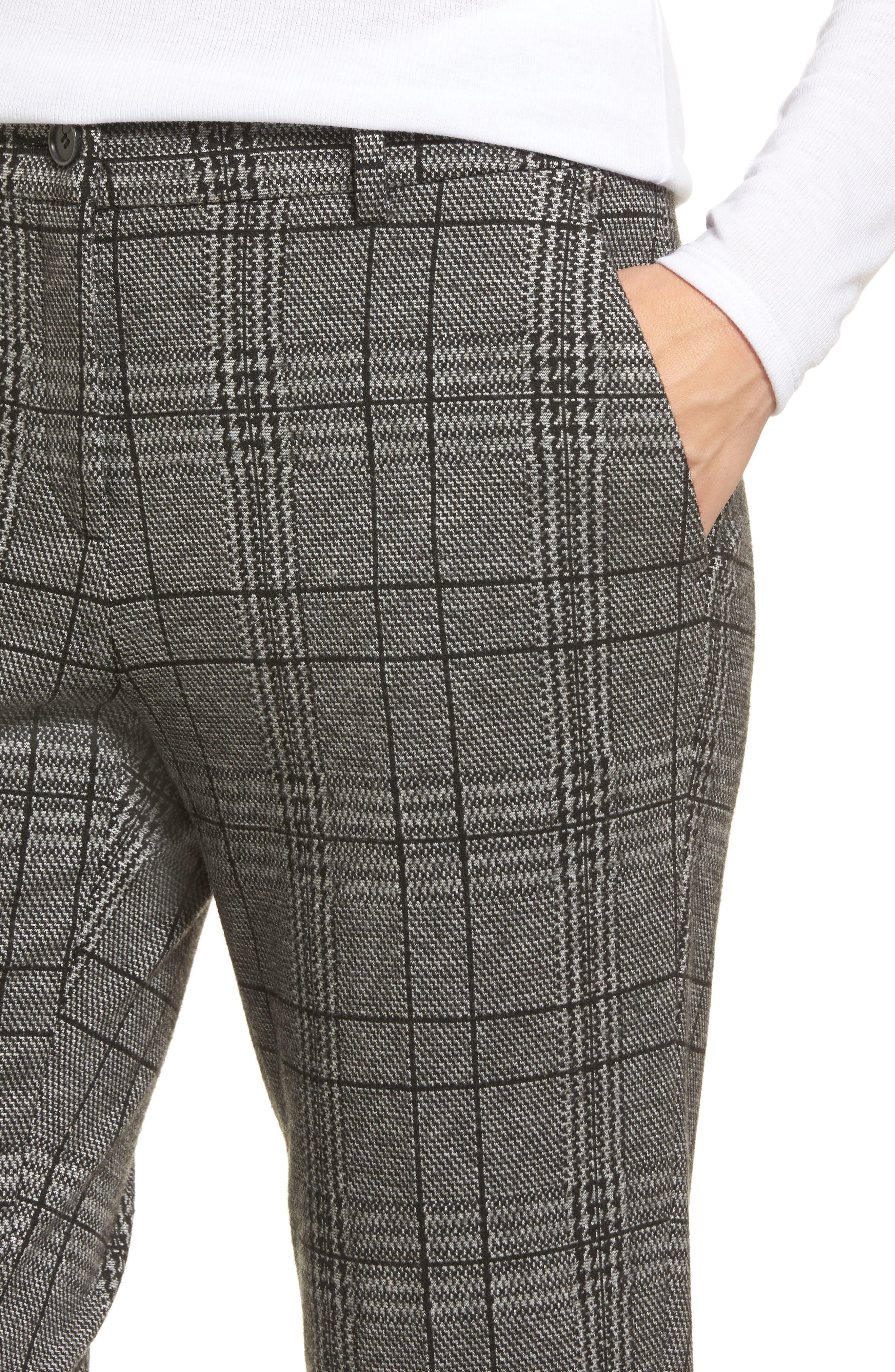 Check Plaid Trousers,                             Alternate thumbnail 4, color,                             002