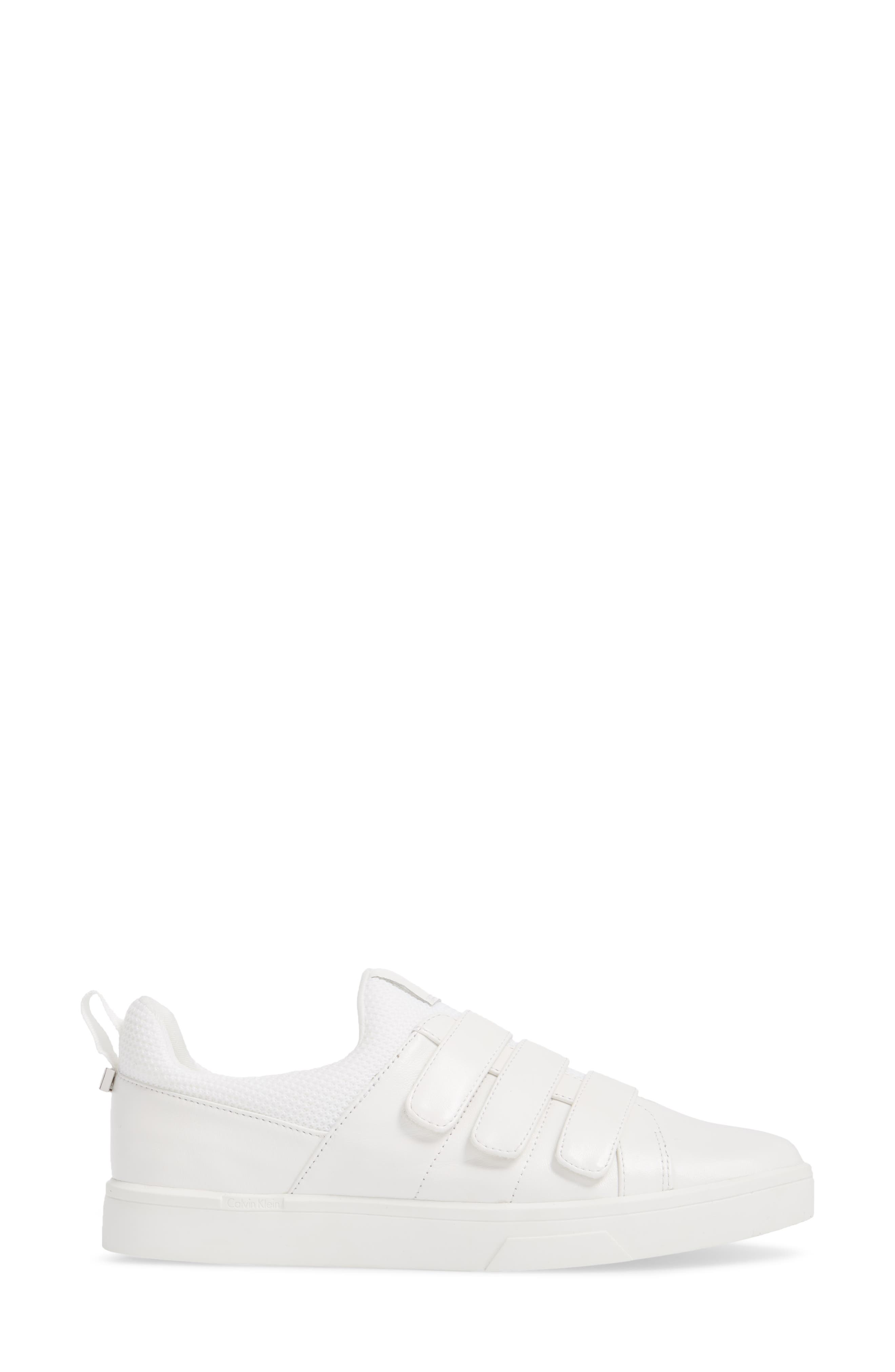 Irah Sneaker,                             Alternate thumbnail 3, color,                             WHITE LEATHER