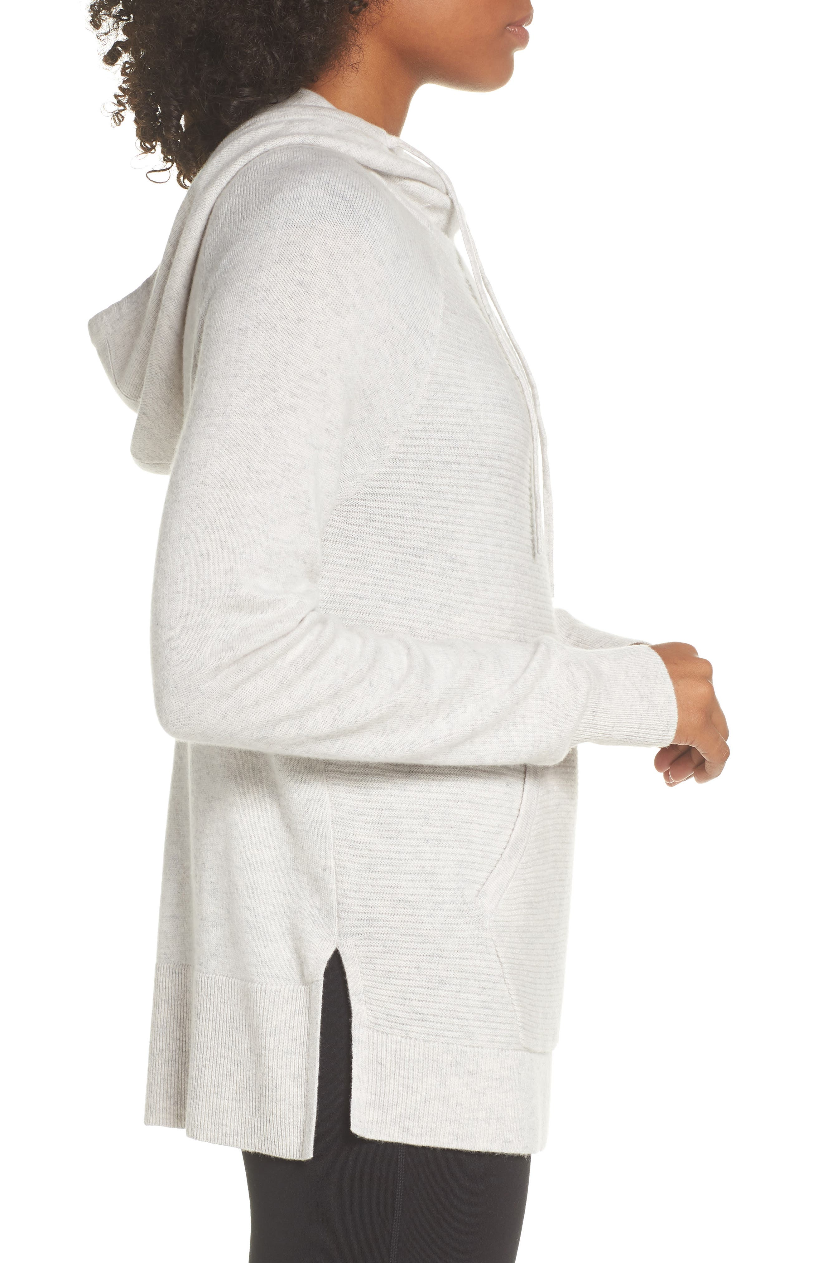 Cashmere and Wool Hoodie,                             Alternate thumbnail 3, color,                             022