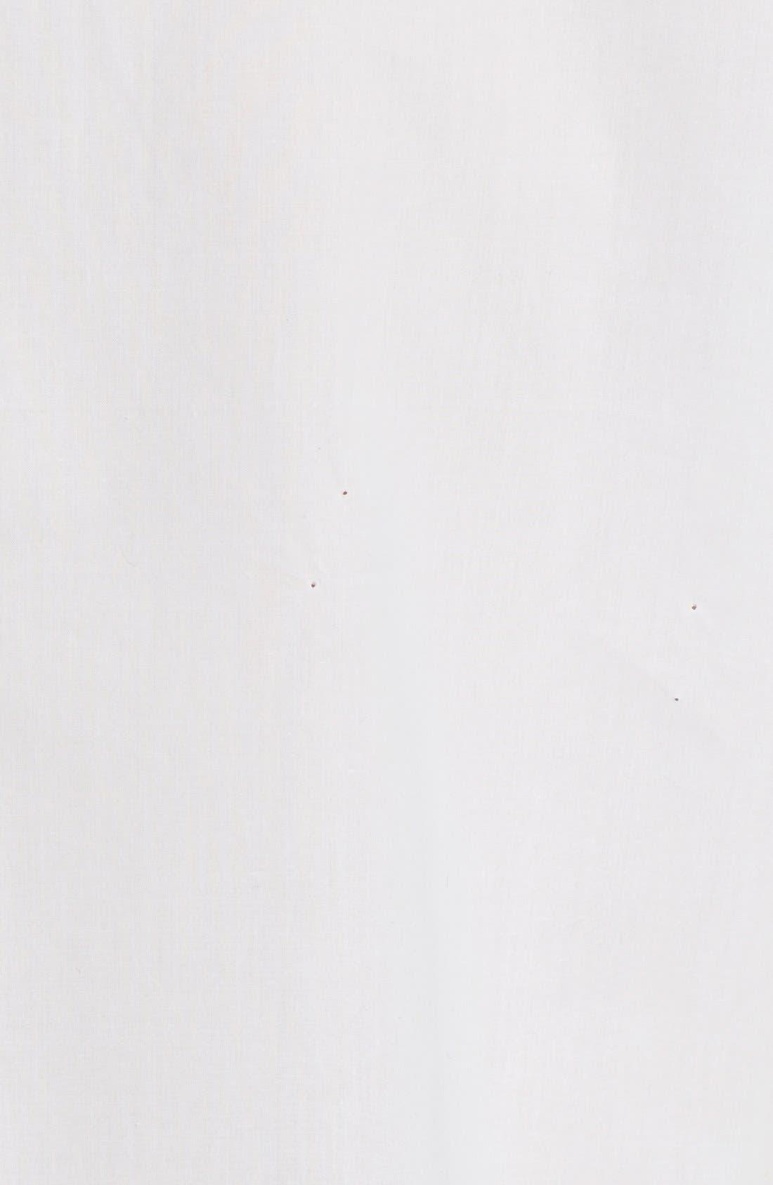 'Le Bowtie' Removable Tie Cotton Poplin Blouse,                             Alternate thumbnail 4, color,                             100