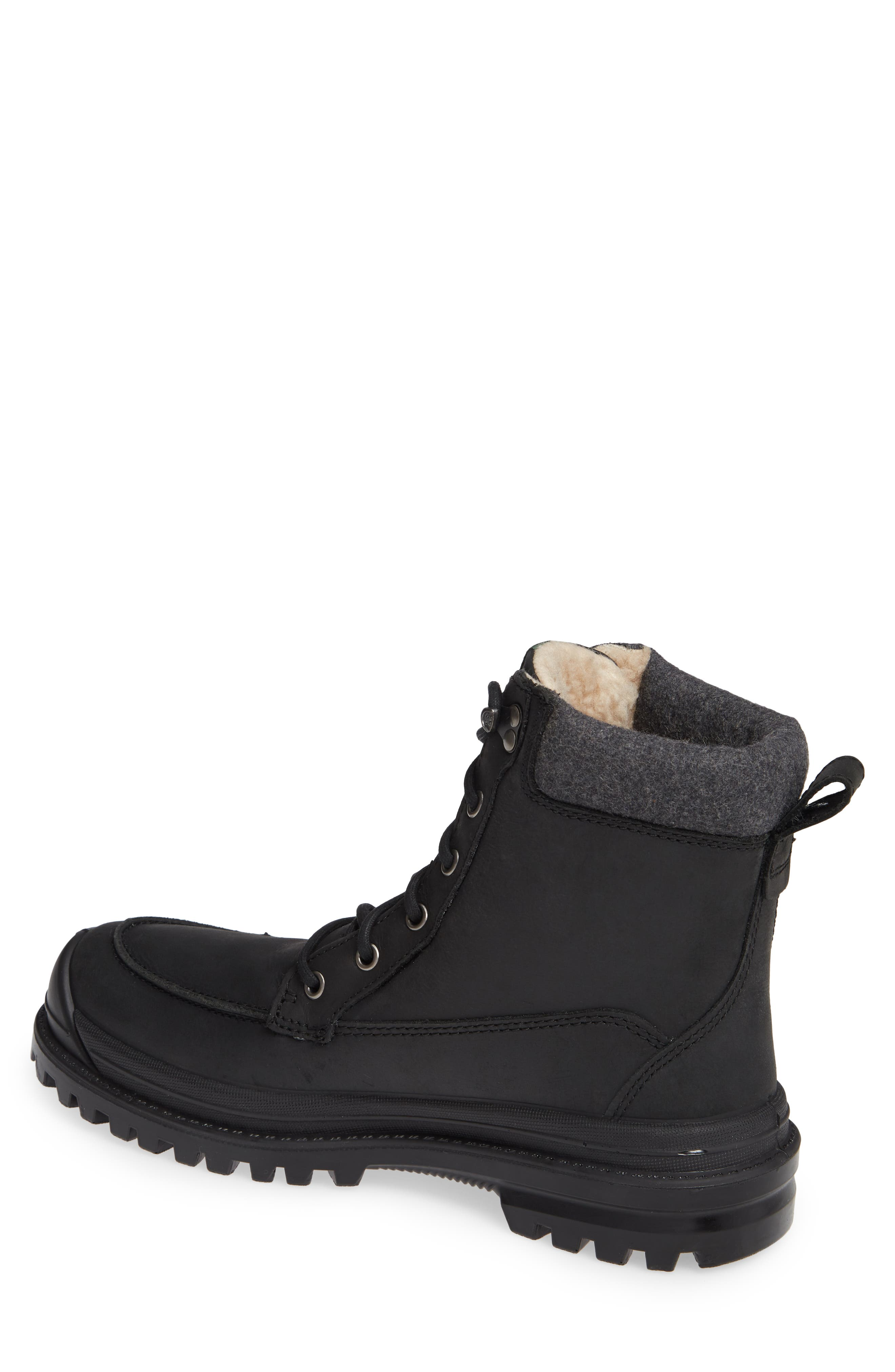 Griffon2 Snow Waterproof Boot with Faux Shearling,                             Alternate thumbnail 2, color,                             BLACK/ BLACK LEATHER