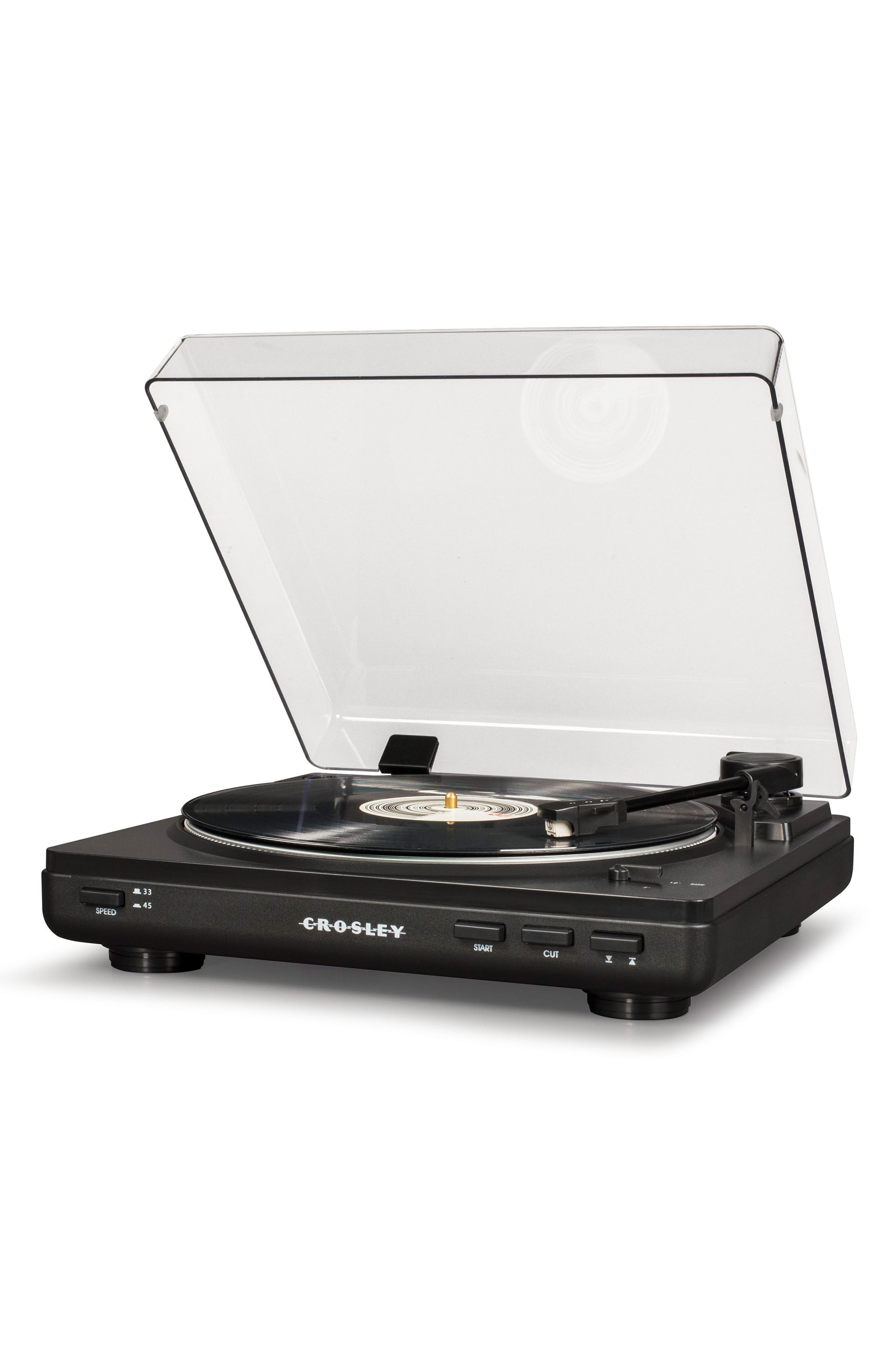 T400 Two-Speed Automatic Turntable,                             Alternate thumbnail 5, color,                             BLACK