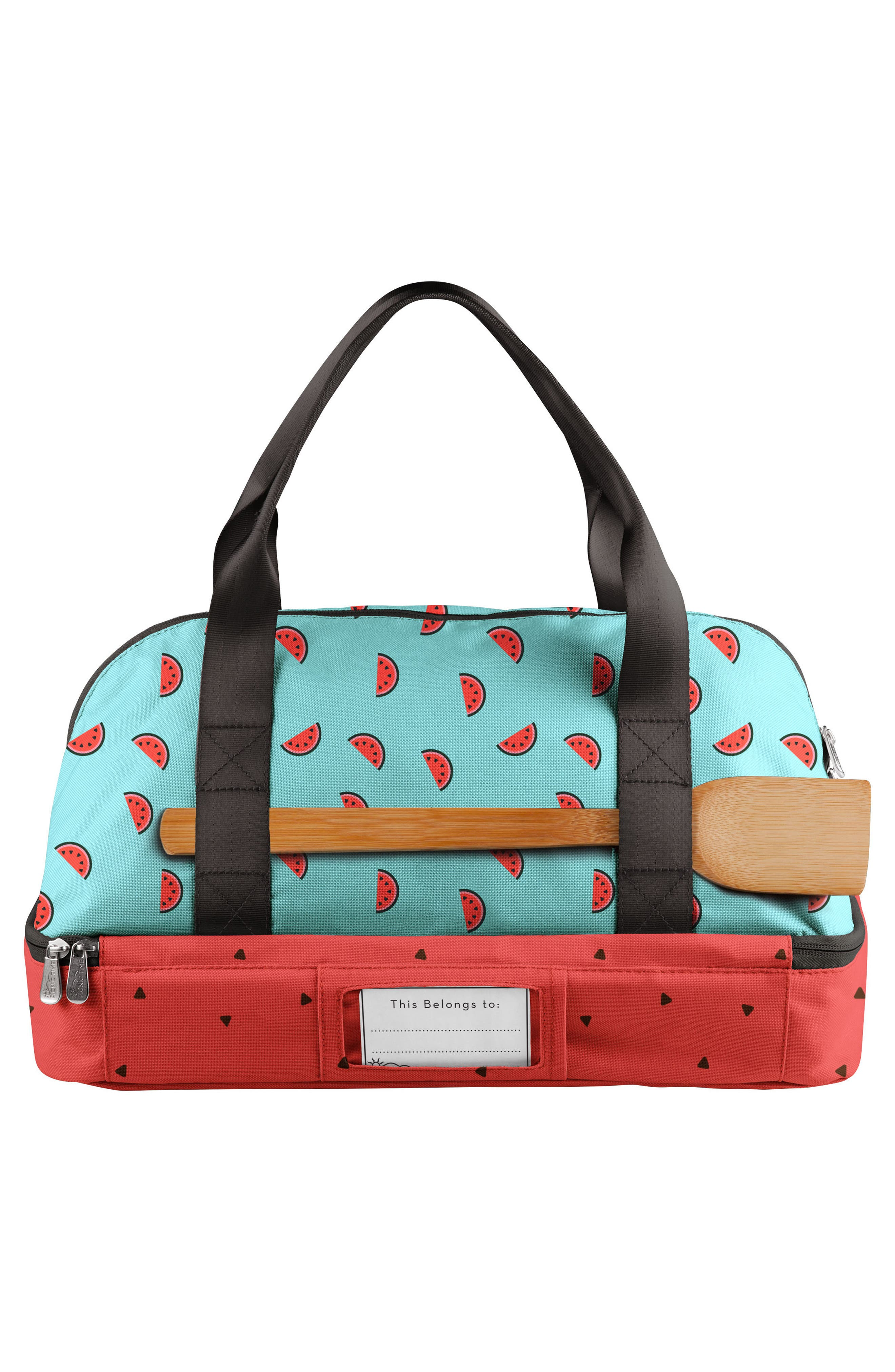 'Potluck' Casserole Tote,                             Alternate thumbnail 3, color,                             BLUE WATERMELON