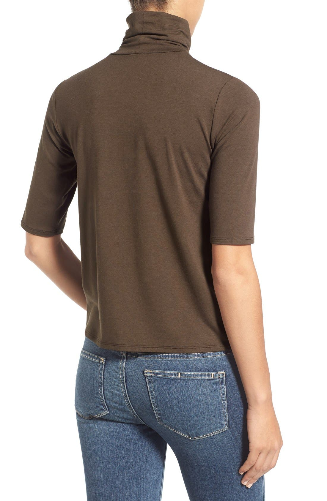 Scrunch Neck Jersey Top,                             Alternate thumbnail 12, color,