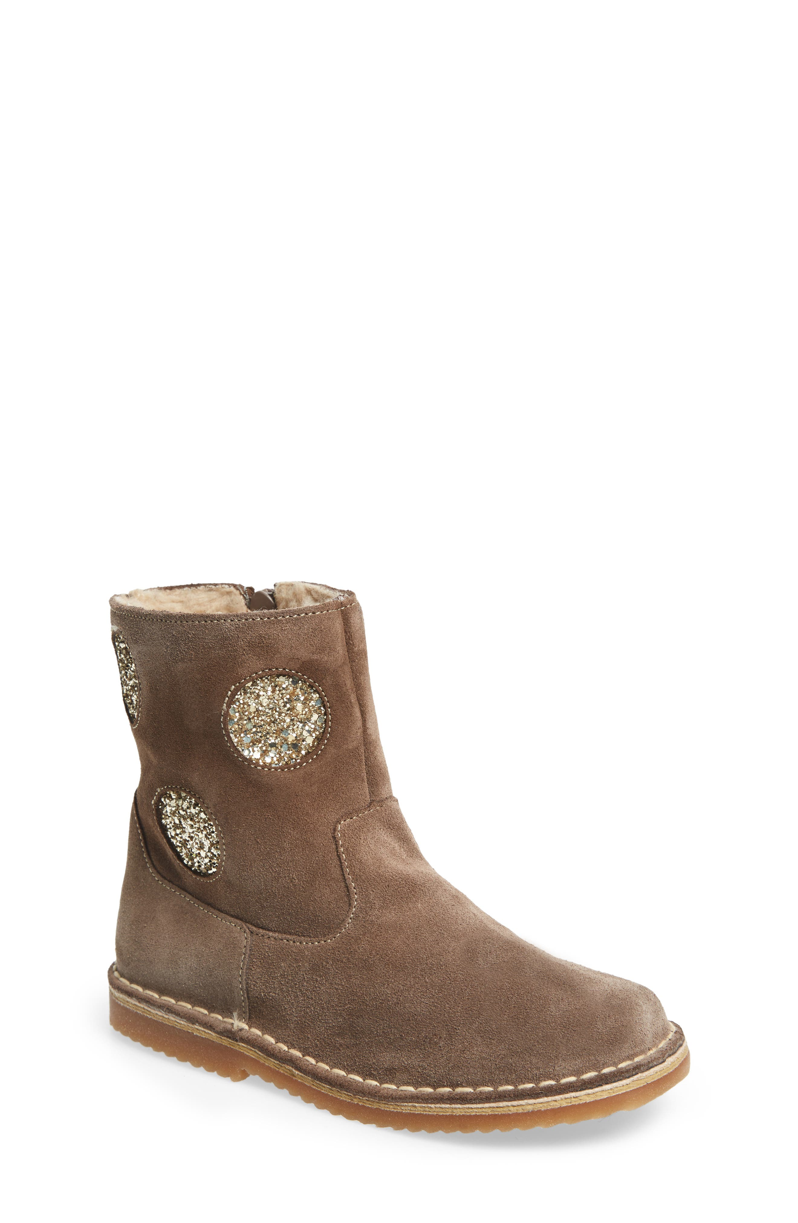 Faux Fur Glitter Star Boot,                             Main thumbnail 1, color,