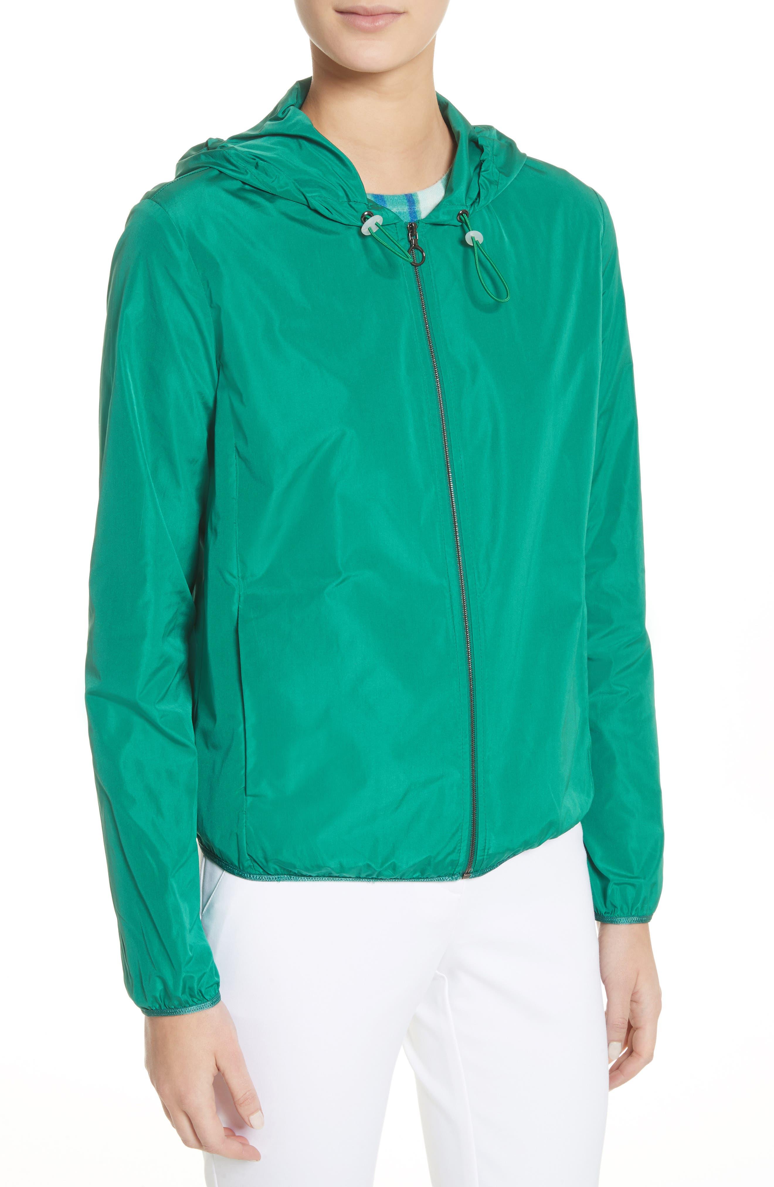 Lightweight Taffeta Hooded Jacket,                             Alternate thumbnail 4, color,                             310