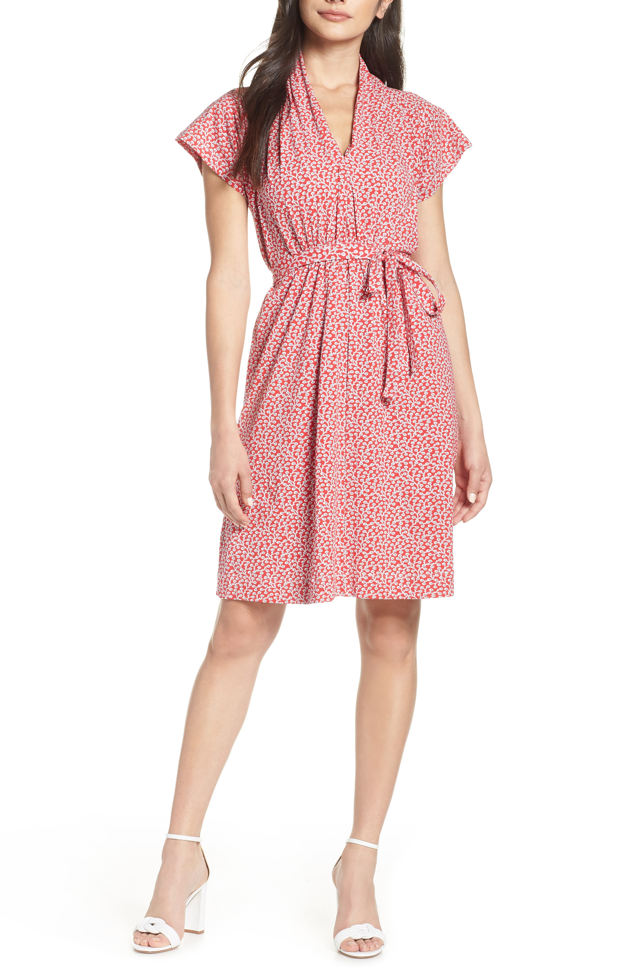 French Connection Elao Floral Jersey Dress, Red