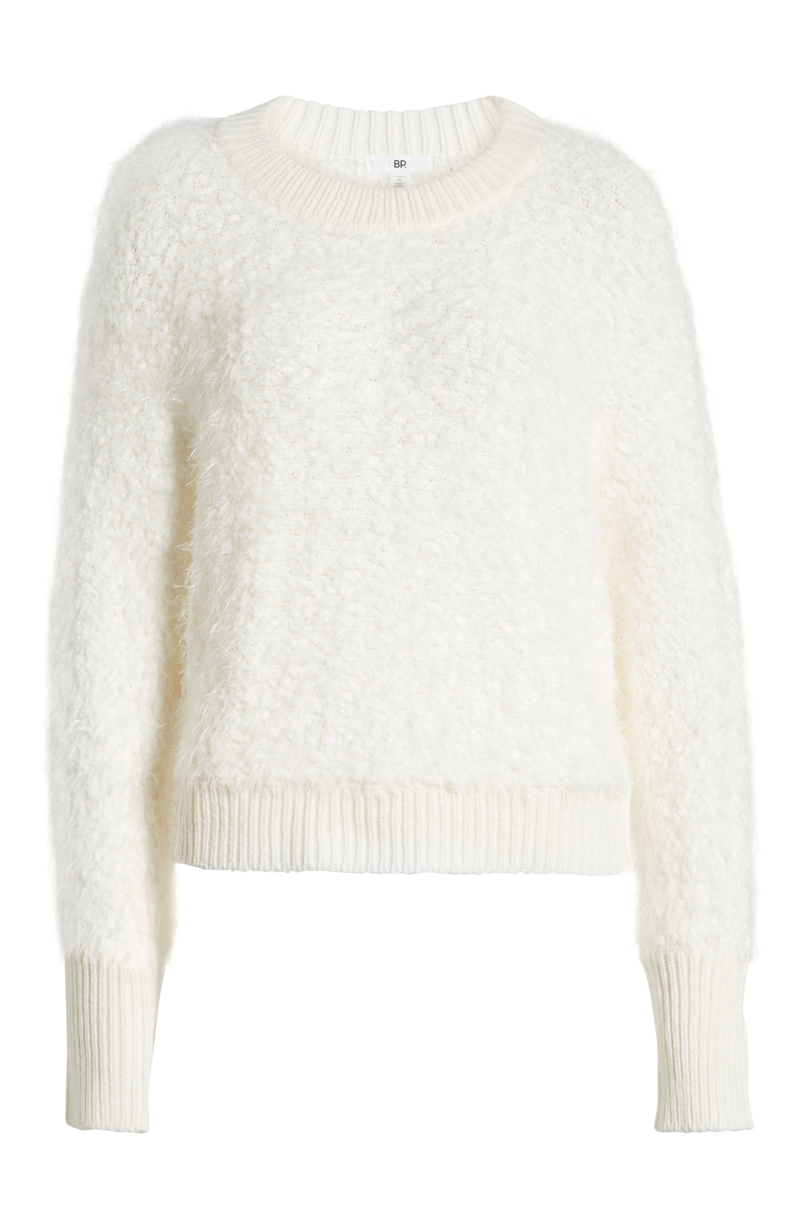 Fluffy Dolman Sweater,                             Alternate thumbnail 6, color,                             IVORY