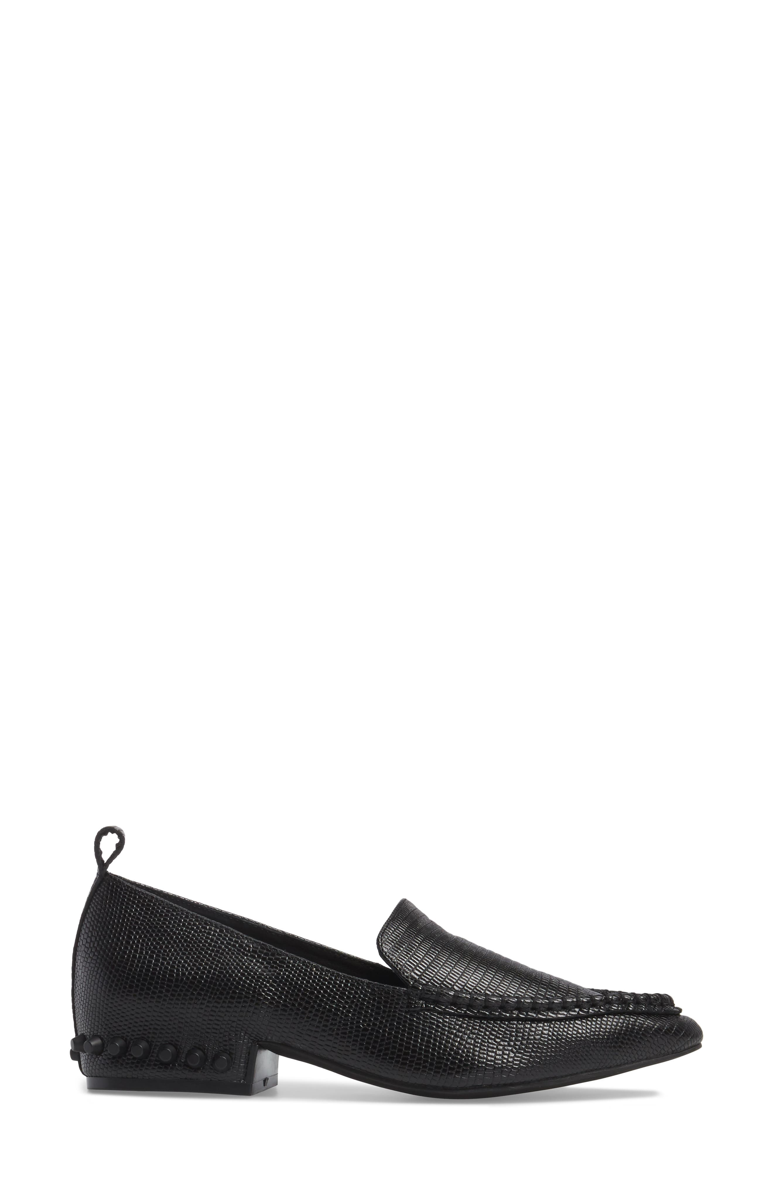 Barnett Studded Loafer,                             Alternate thumbnail 3, color,                             002