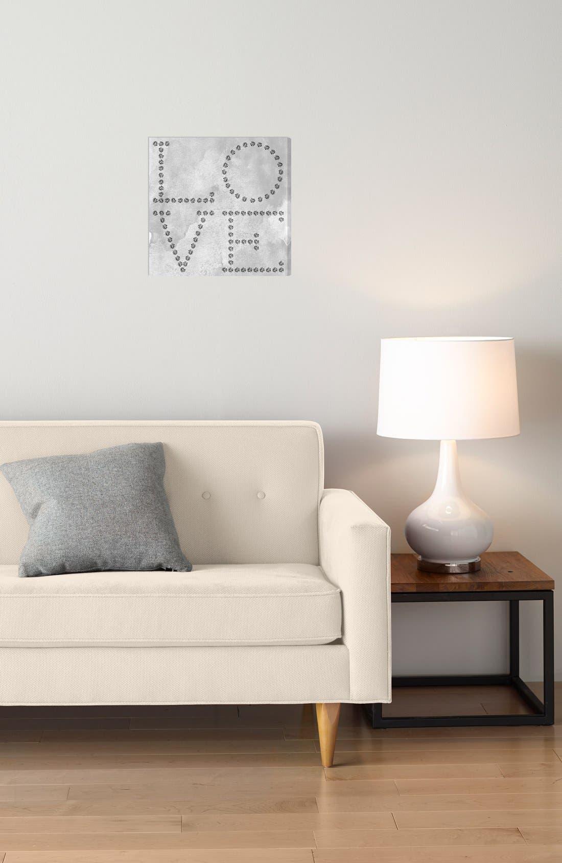 'Love Diamonds' Wall Art,                             Alternate thumbnail 2, color,                             GREY