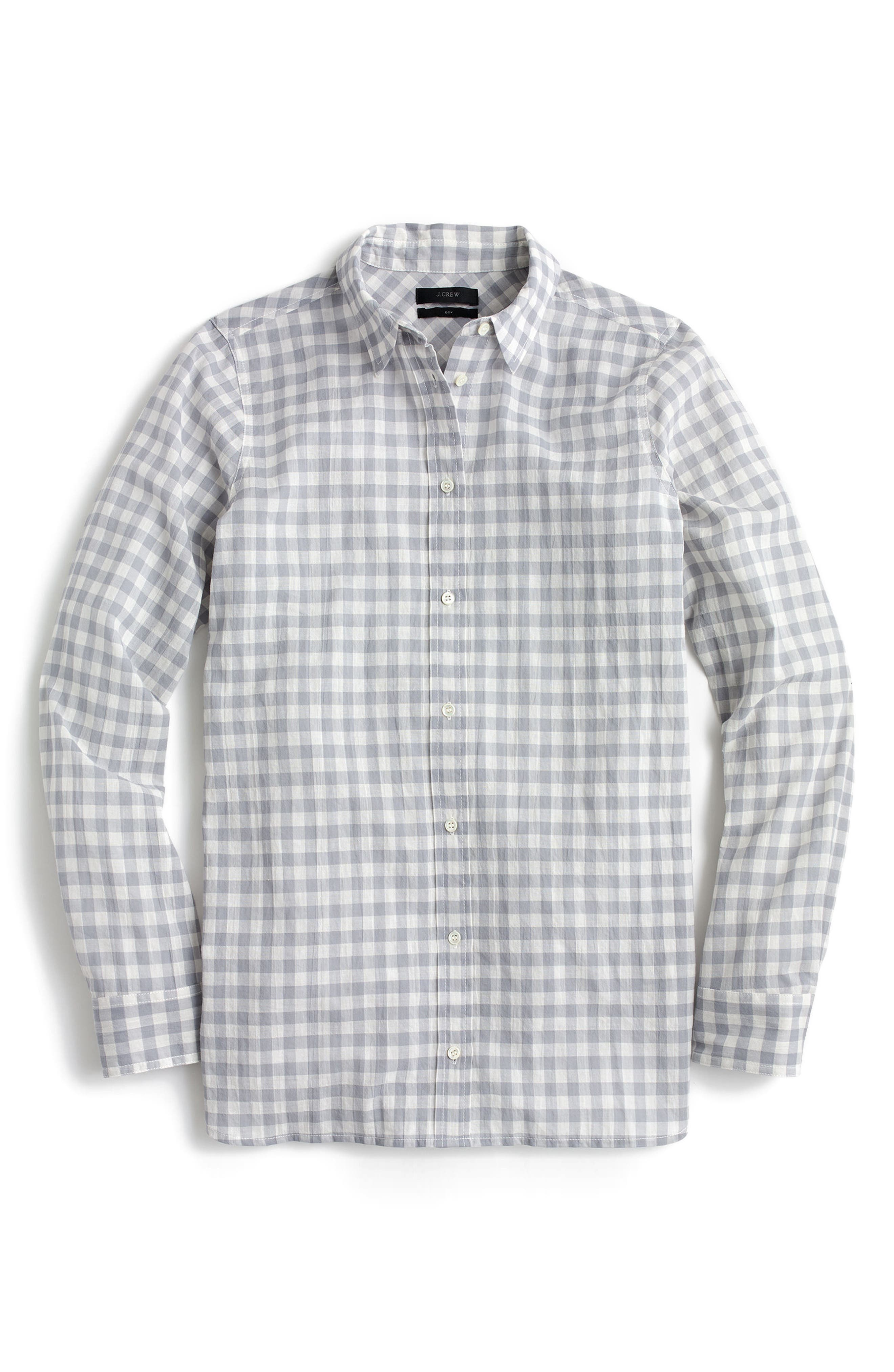 Crinkle Gingham Boy Shirt,                             Main thumbnail 1, color,                             020
