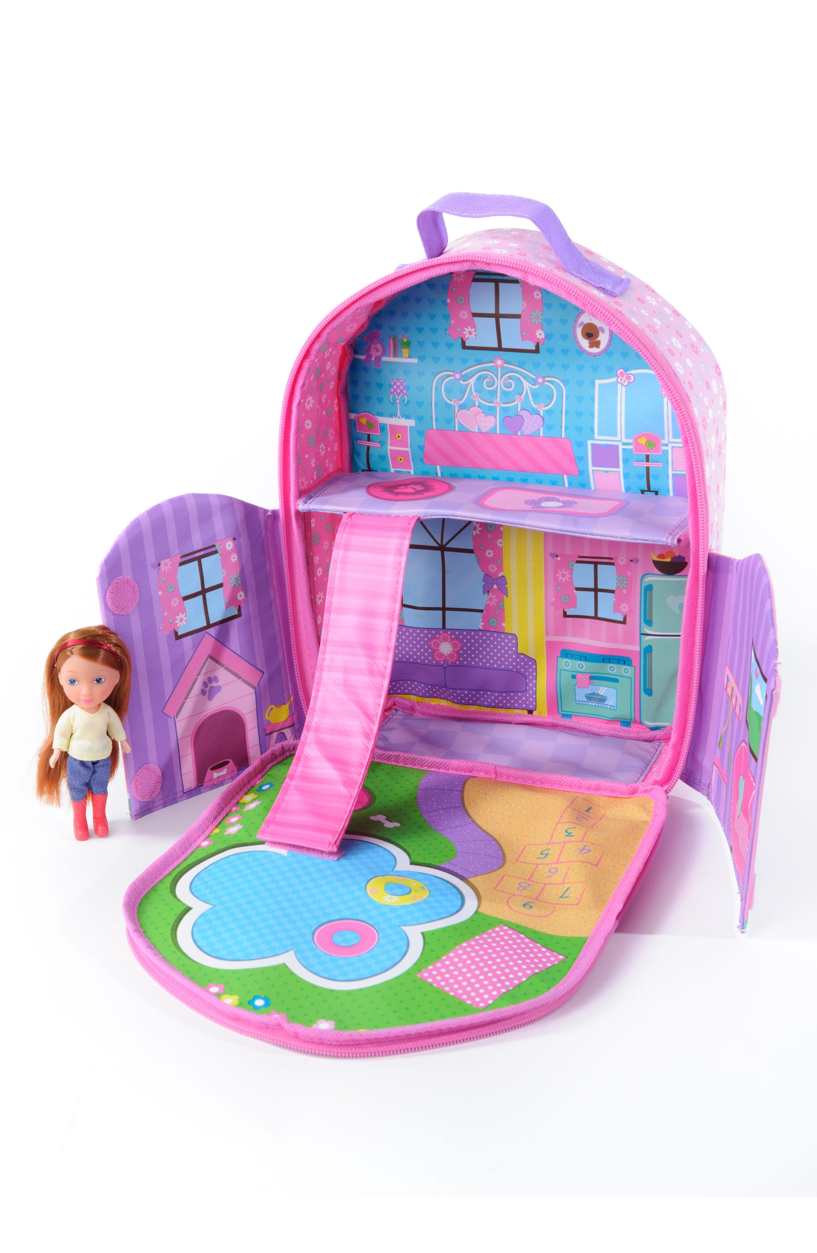 Neat Oh! Everyday Princess Doll & Dollhouse Backpack Set,                             Alternate thumbnail 2, color,                             650