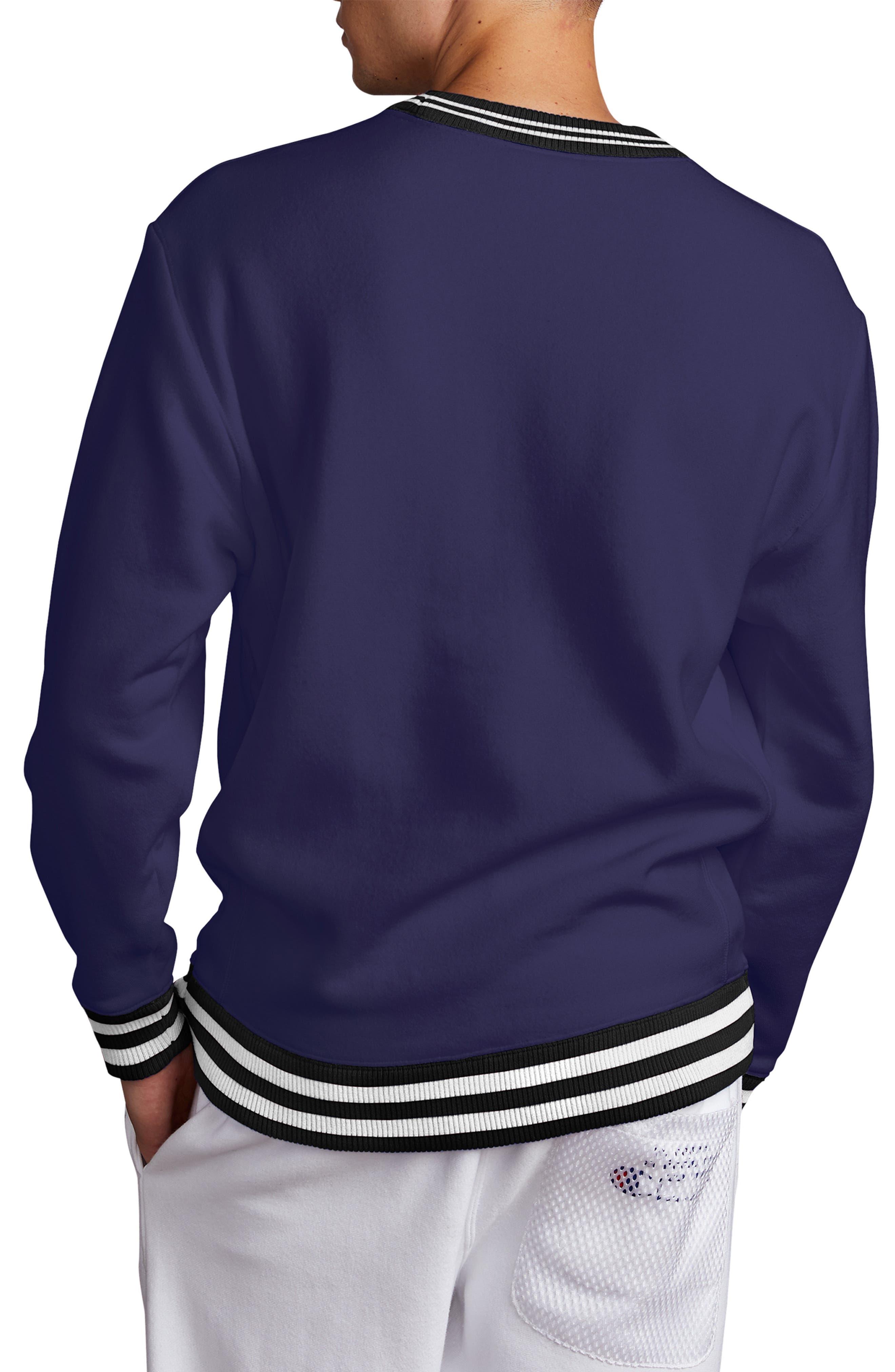 Tipped Crewneck Sweatshirt,                             Alternate thumbnail 2, color,                             BLUE APRON