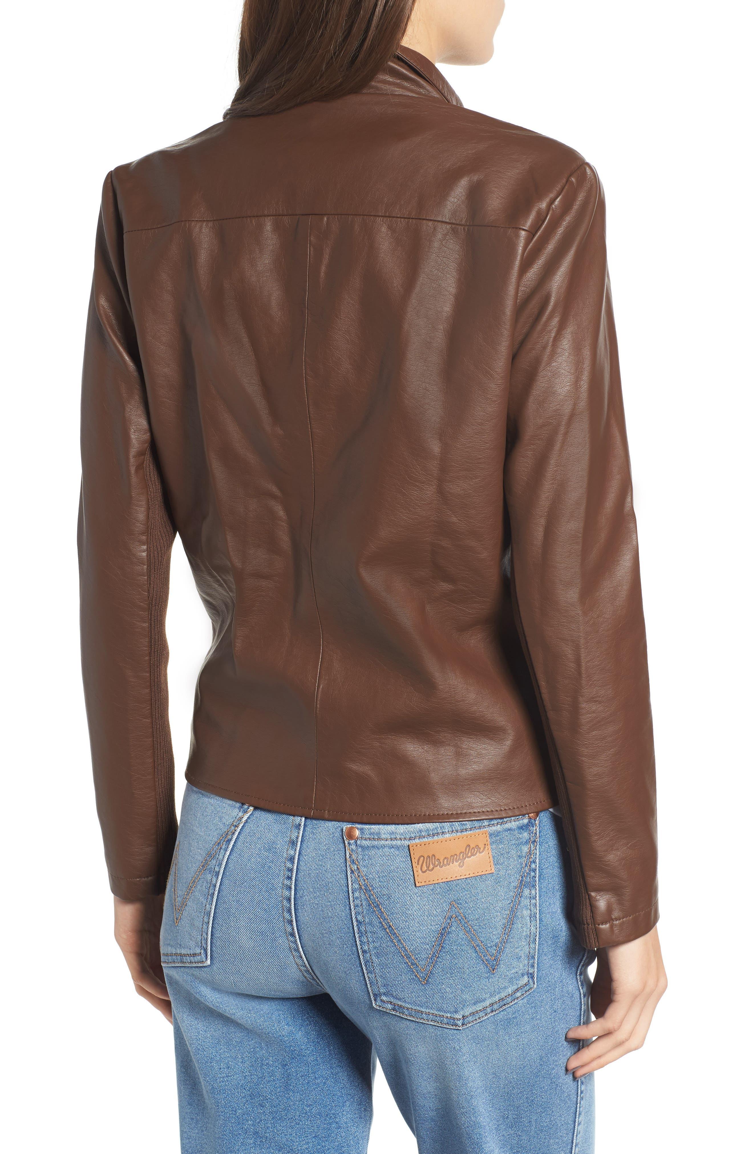 Gabrielle Faux Leather Asymmetrical Jacket,                             Alternate thumbnail 2, color,                             202