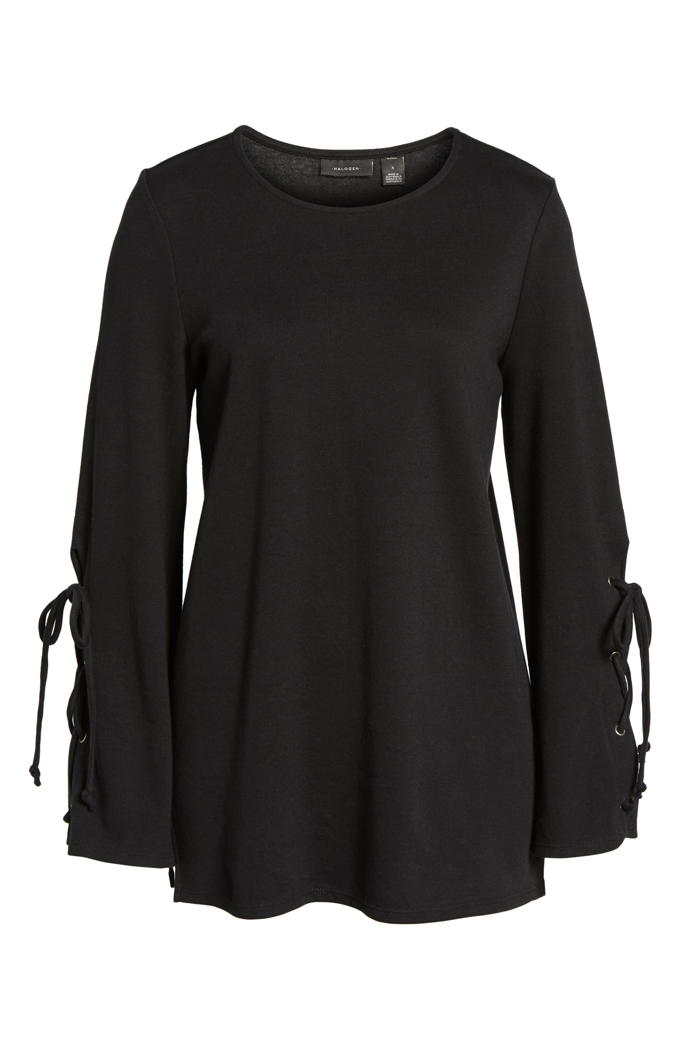 Terry Tie Sleeve Tunic,                             Alternate thumbnail 6, color,                             001