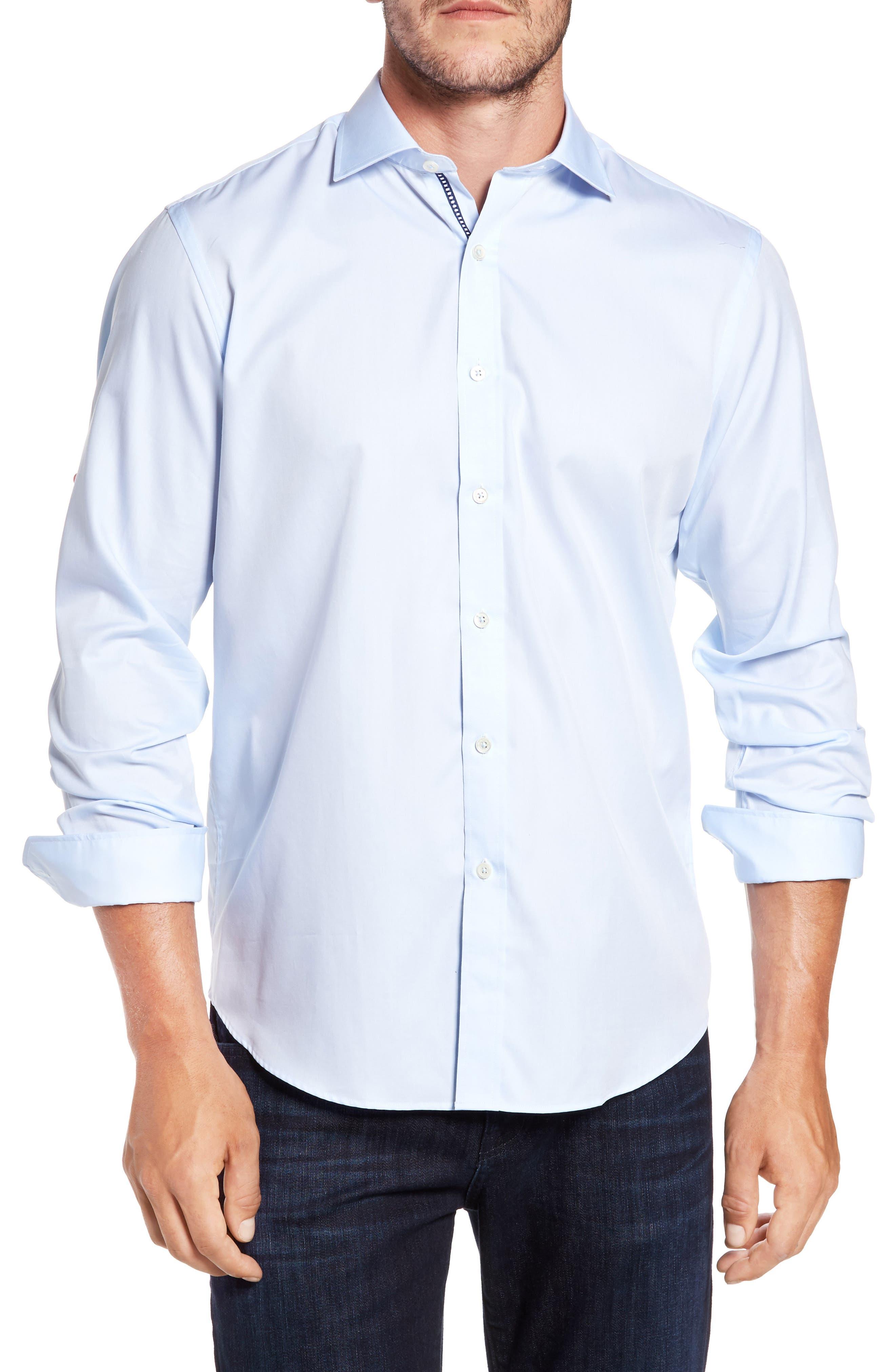 Classic Fit Sport Shirt,                             Main thumbnail 1, color,                             ICE BLUE