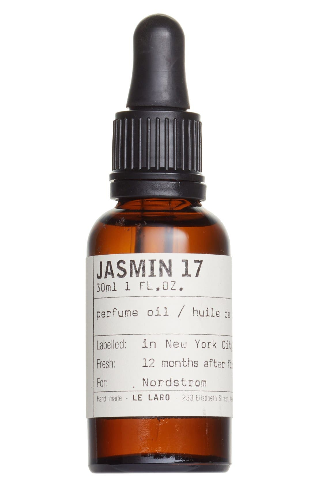 'Jasmin 17' Perfume Oil,                             Main thumbnail 1, color,                             NO COLOR