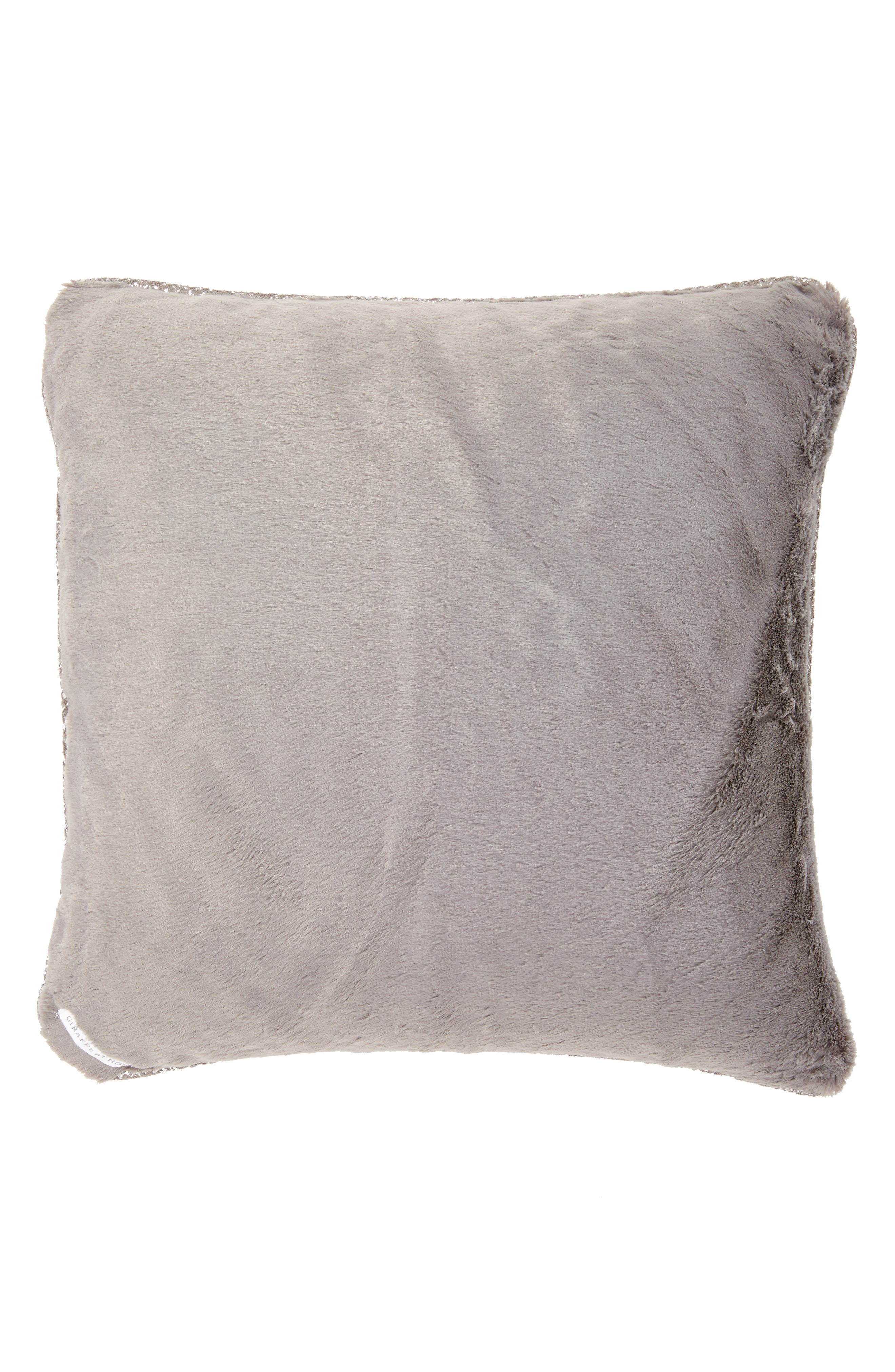 GIRAFFE AT HOME,                             Luxe<sup>™</sup> Lustre Pillow,                             Main thumbnail 1, color,                             020