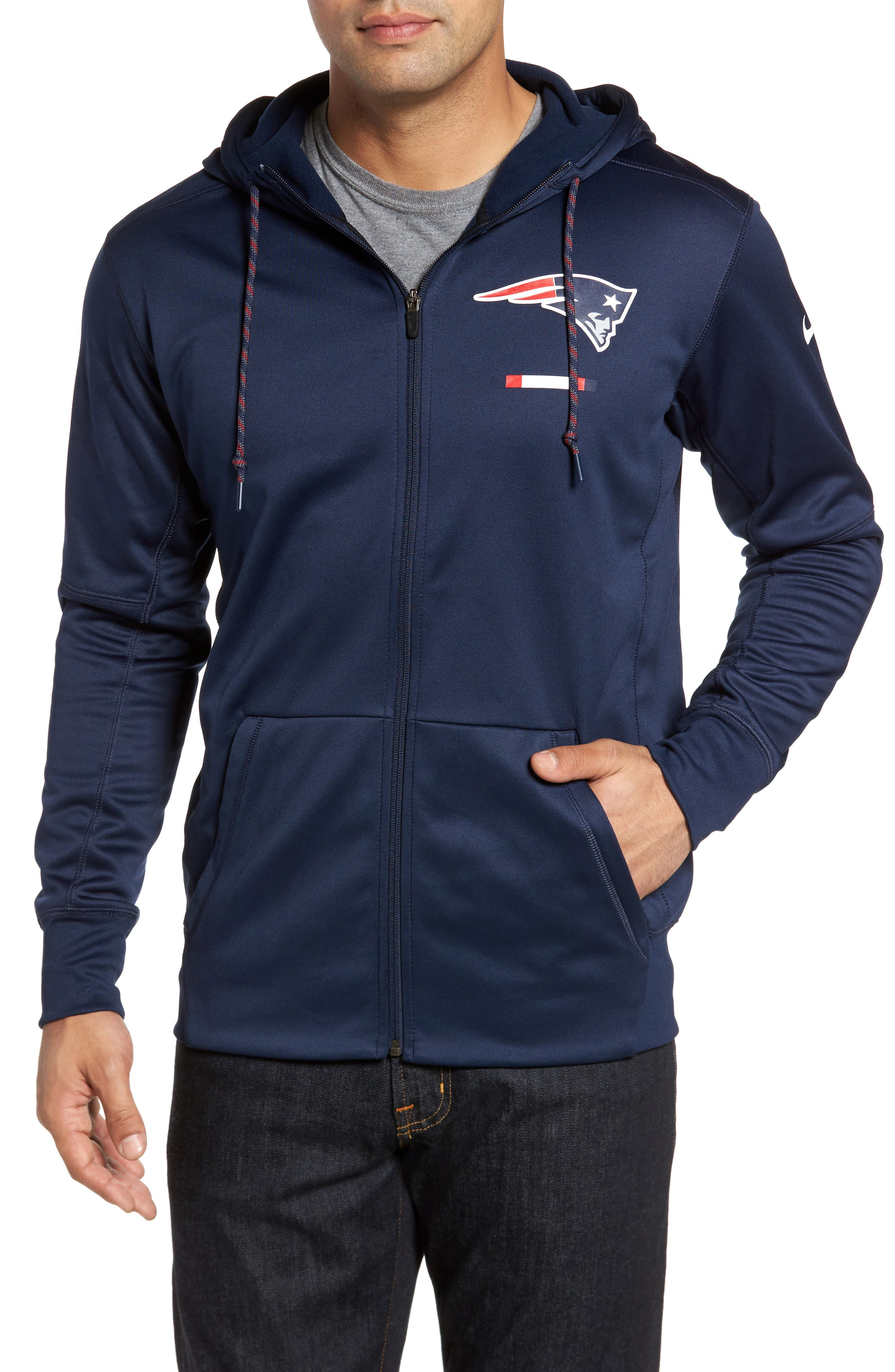 Therma-FIT NFL Graphic Zip Hoodie,                             Main thumbnail 4, color,