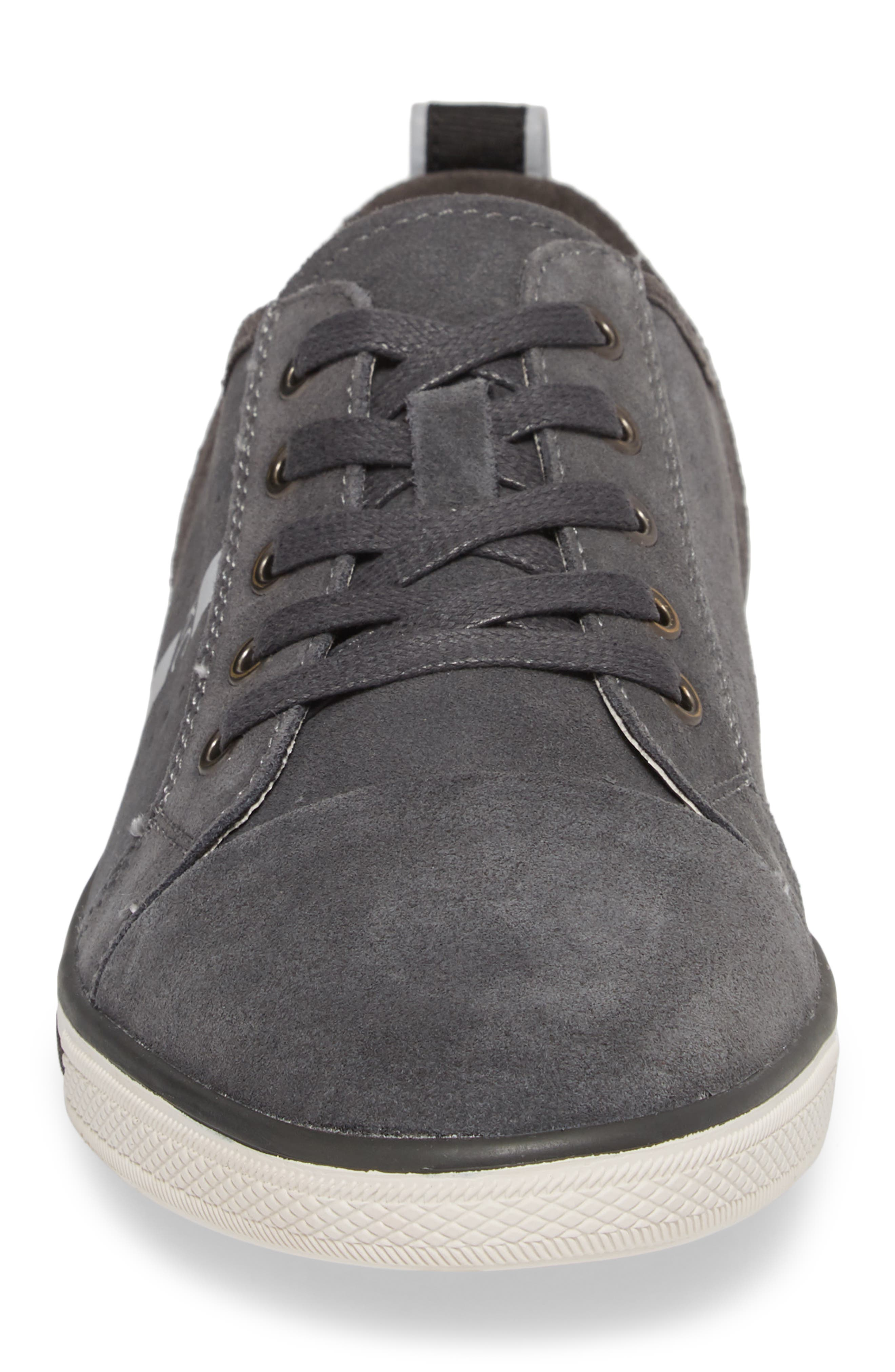 Center Low Sneaker,                             Alternate thumbnail 4, color,                             GREY