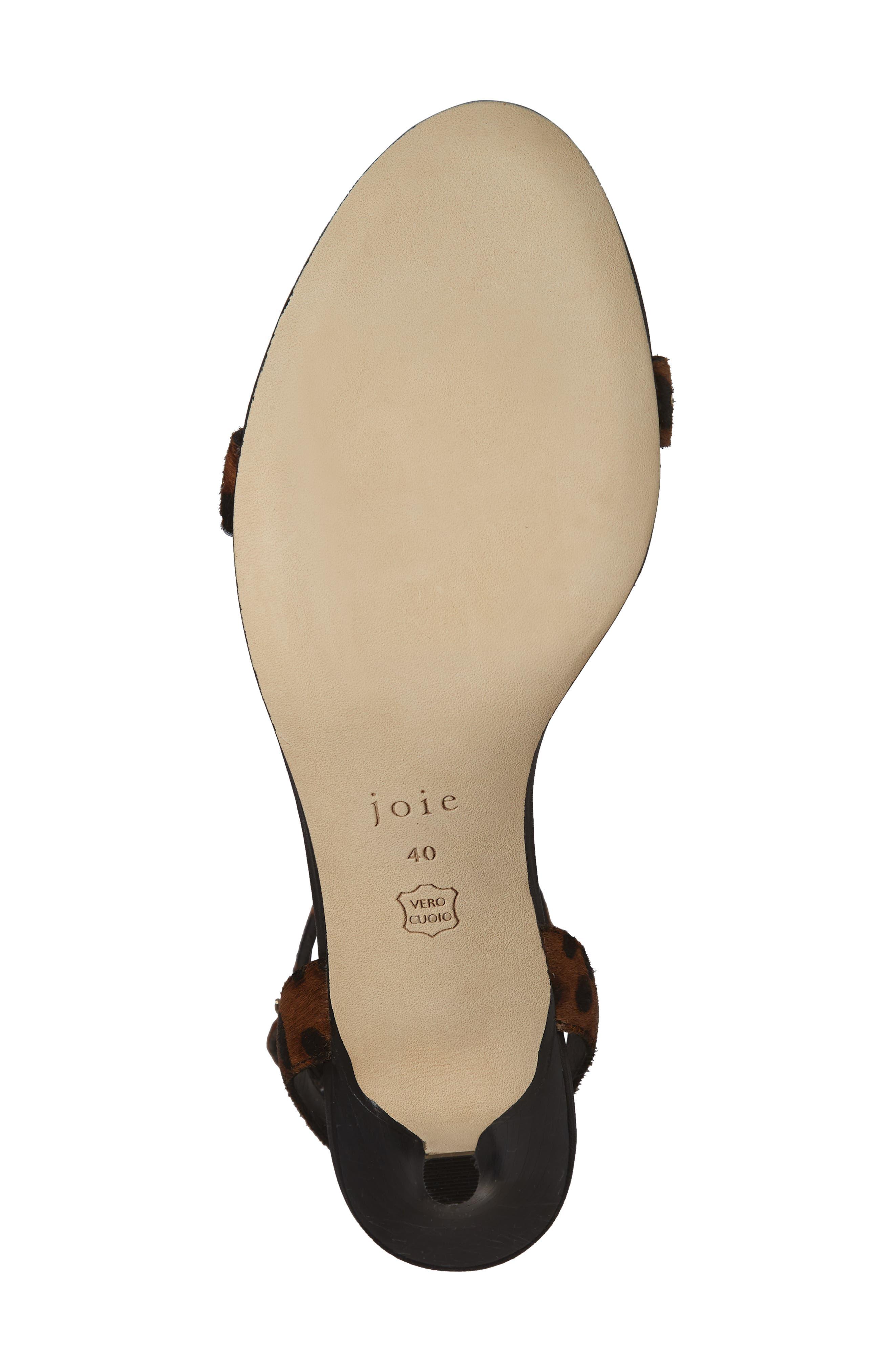 Malina Genuine Calf Hair Sandal,                             Alternate thumbnail 6, color,                             LEOPARD