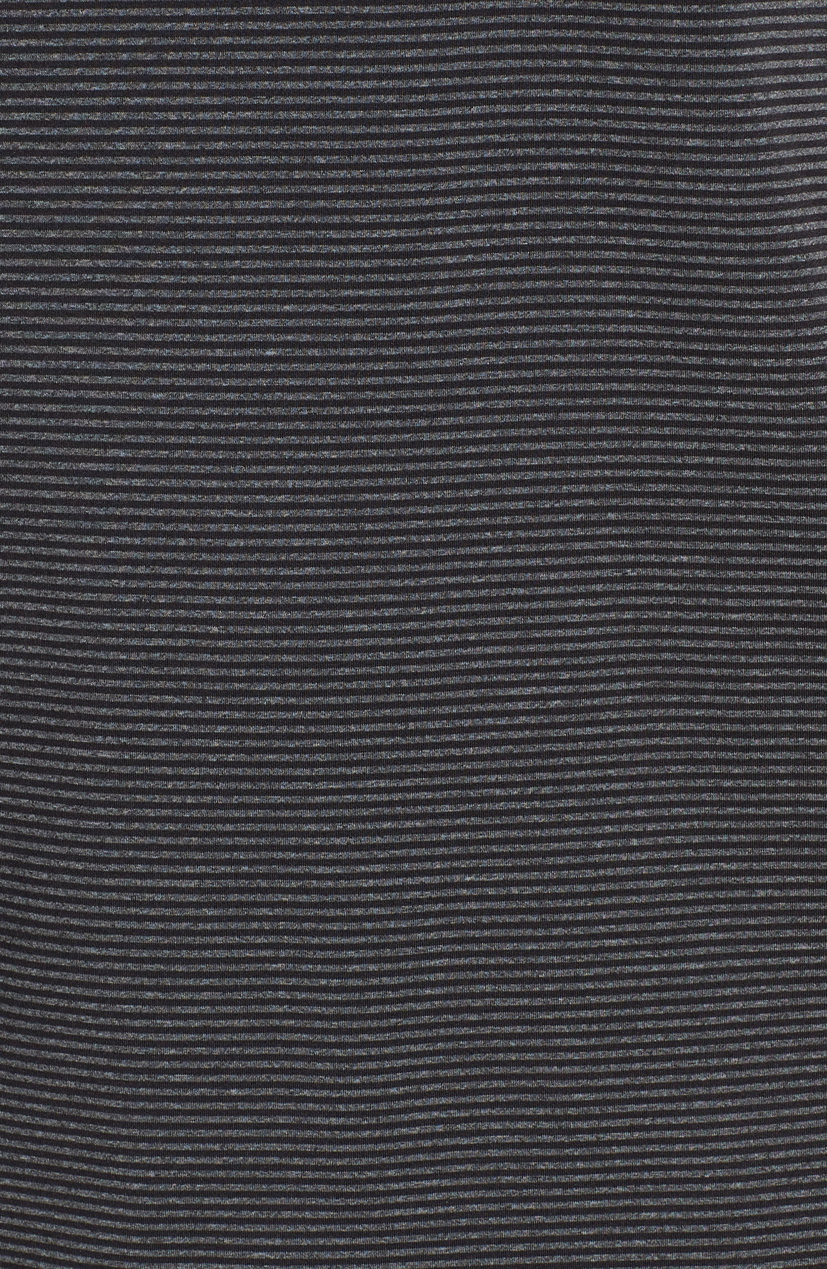 Oracle Stripe Jersey Polo,                             Alternate thumbnail 5, color,                             CAVIAR/ CHARCOAL