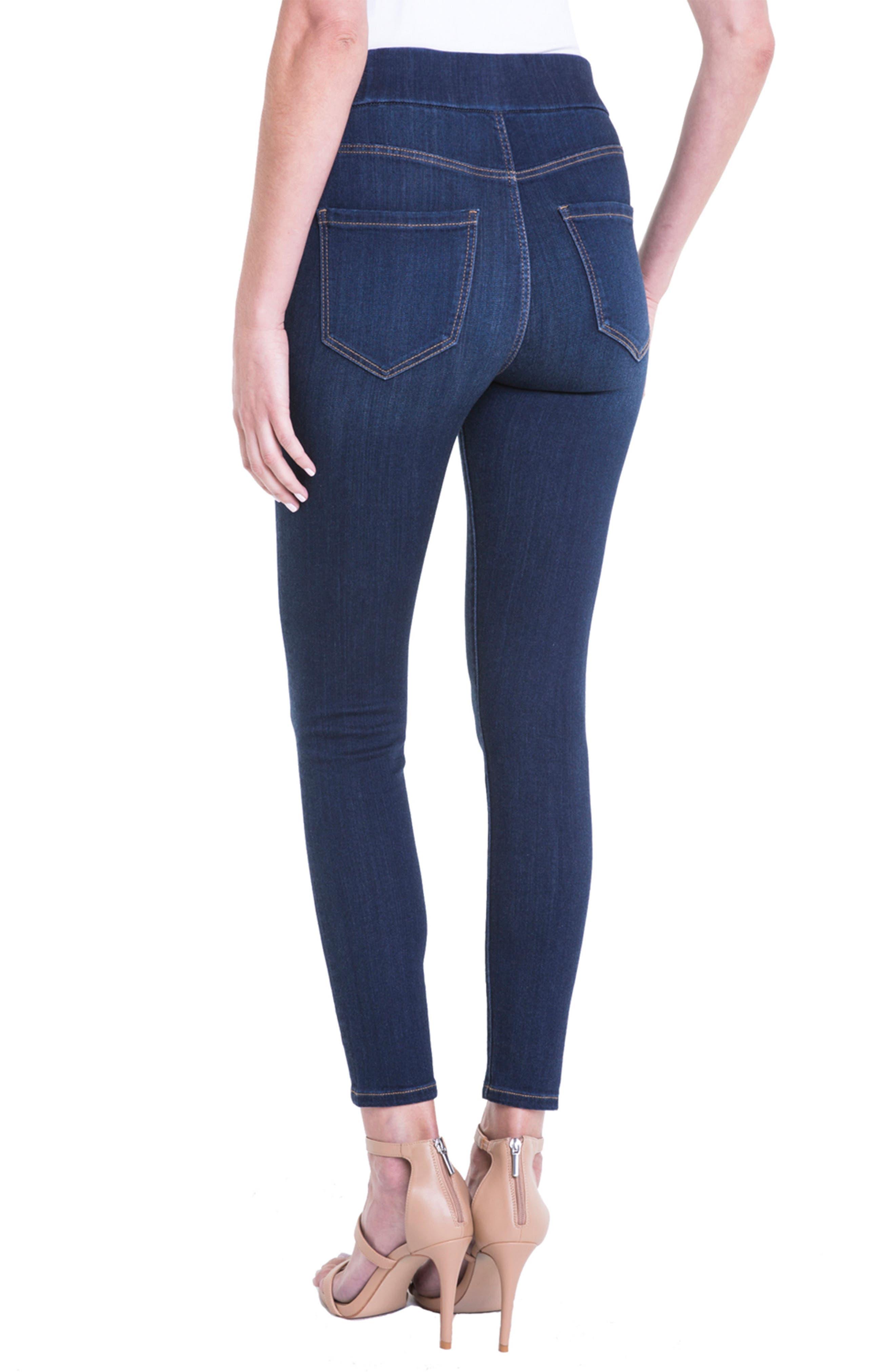 Farrah Pull-On Skinny Ankle Jeans,                             Alternate thumbnail 2, color,                             GRIFFITH SUPER DARK
