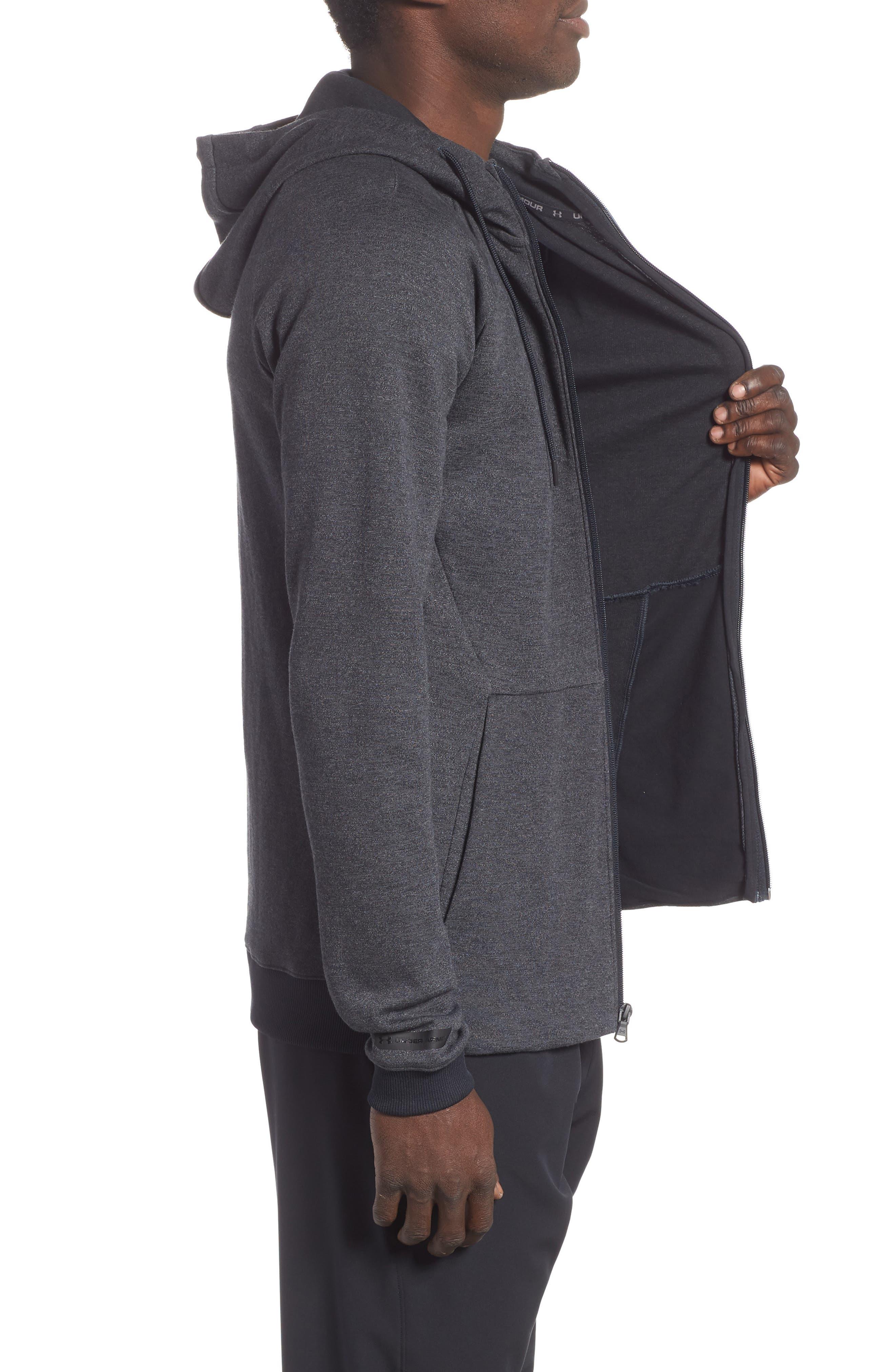 Sportstyle Zip Hoodie,                             Alternate thumbnail 3, color,                             BLACK