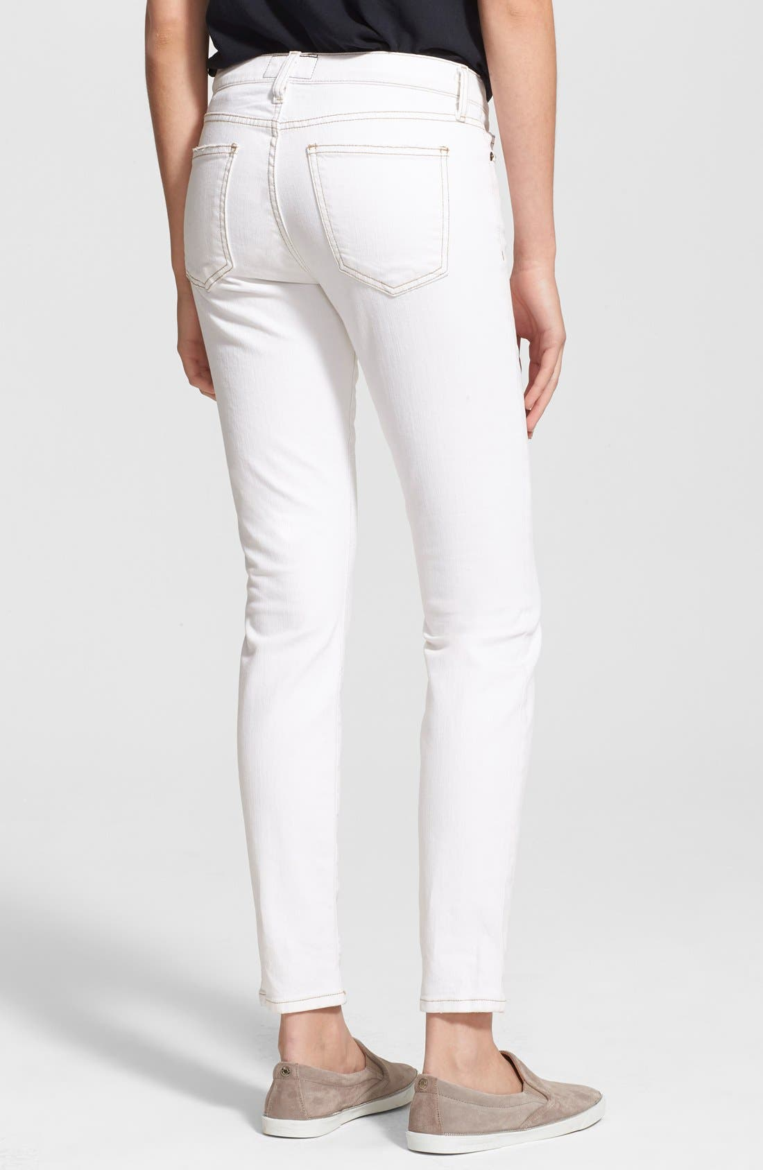 CURRENT/ELLIOTT,                             'The Ankle Skinny' Print Stretch Jeans,                             Alternate thumbnail 3, color,                             116