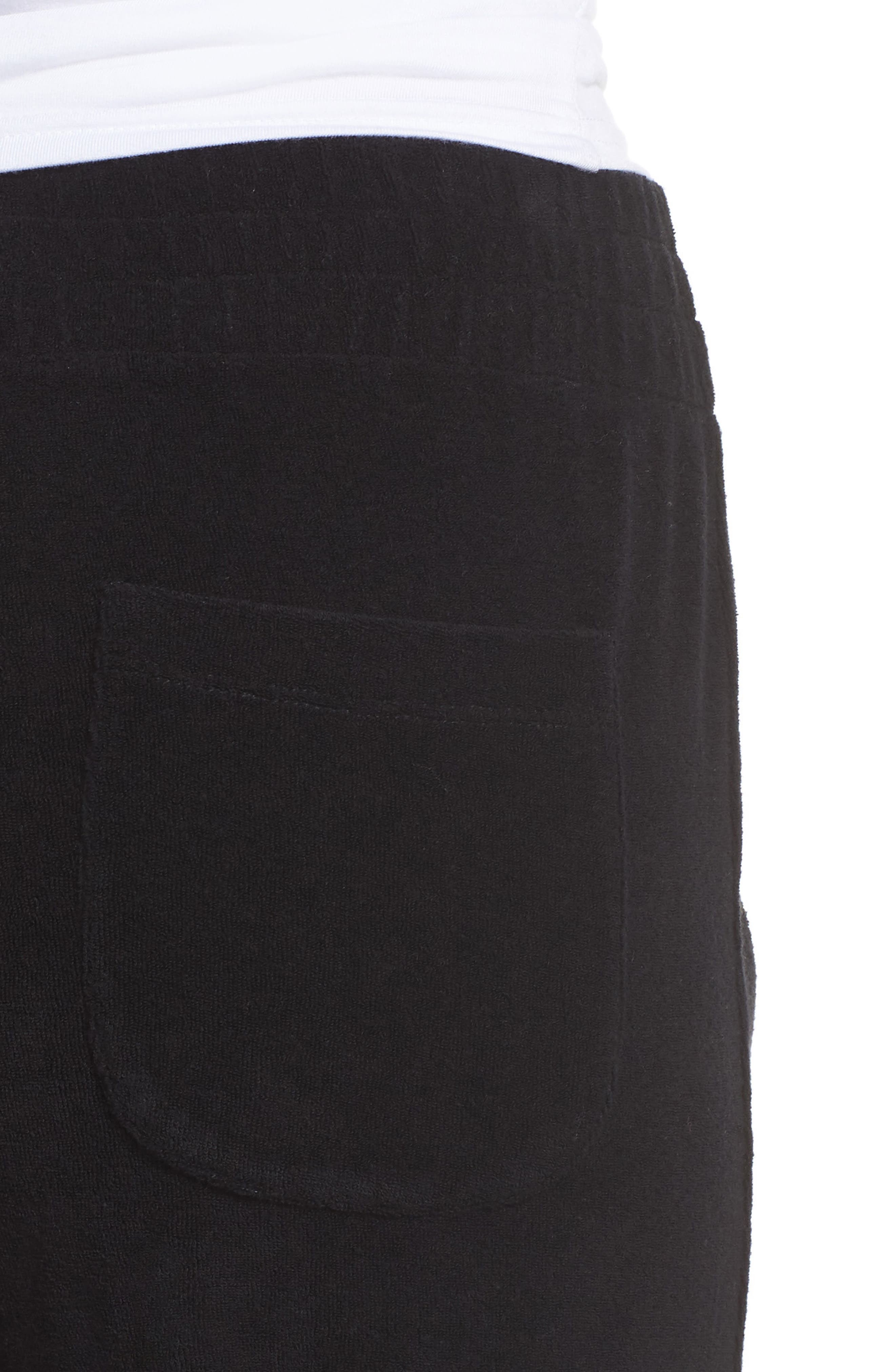 Terry Flare Lounge Pants,                             Alternate thumbnail 4, color,                             001
