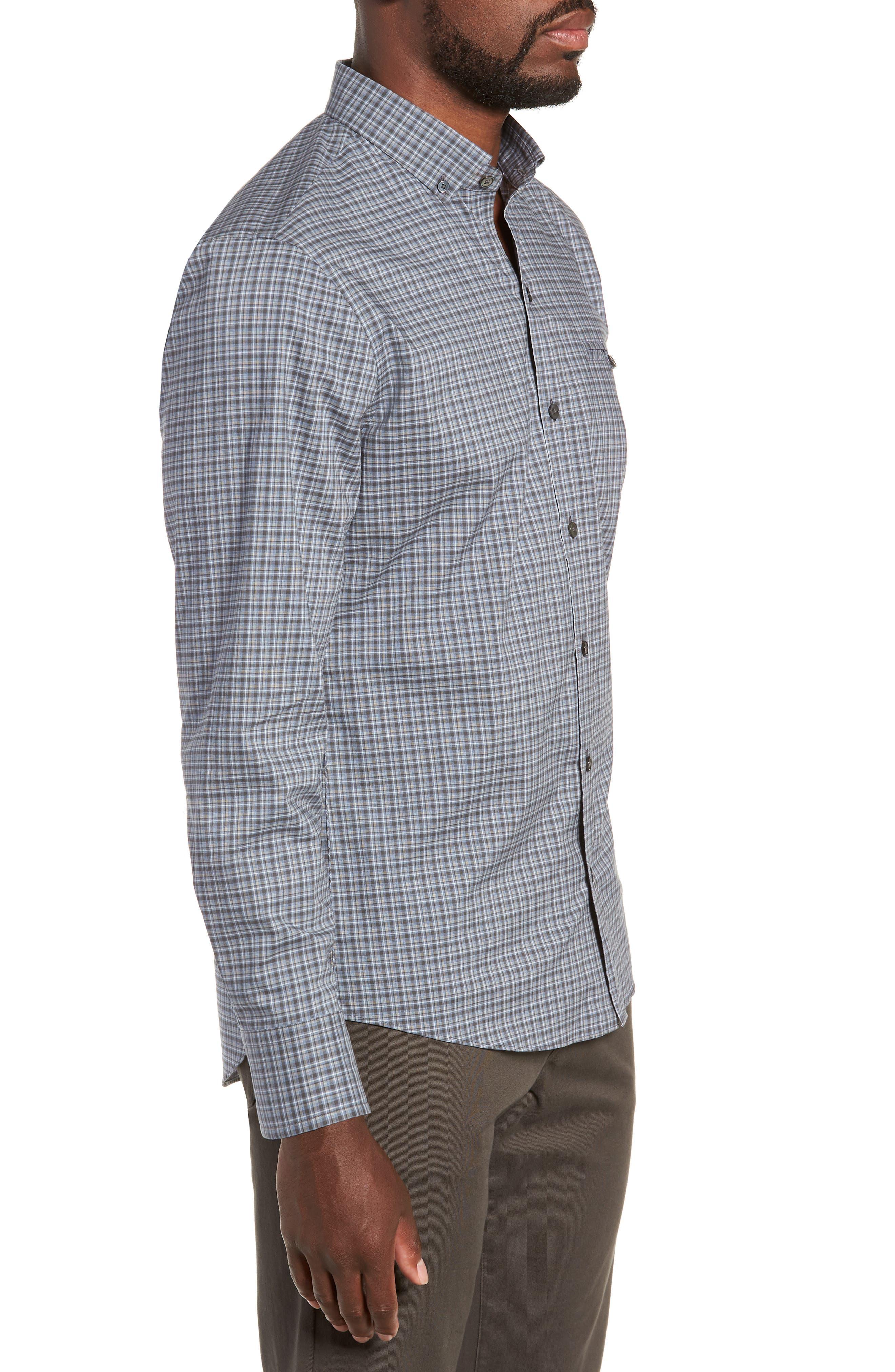 ZACHARY PRELL,                             Chu Regular Fit Plaid Sport Shirt,                             Alternate thumbnail 4, color,                             021