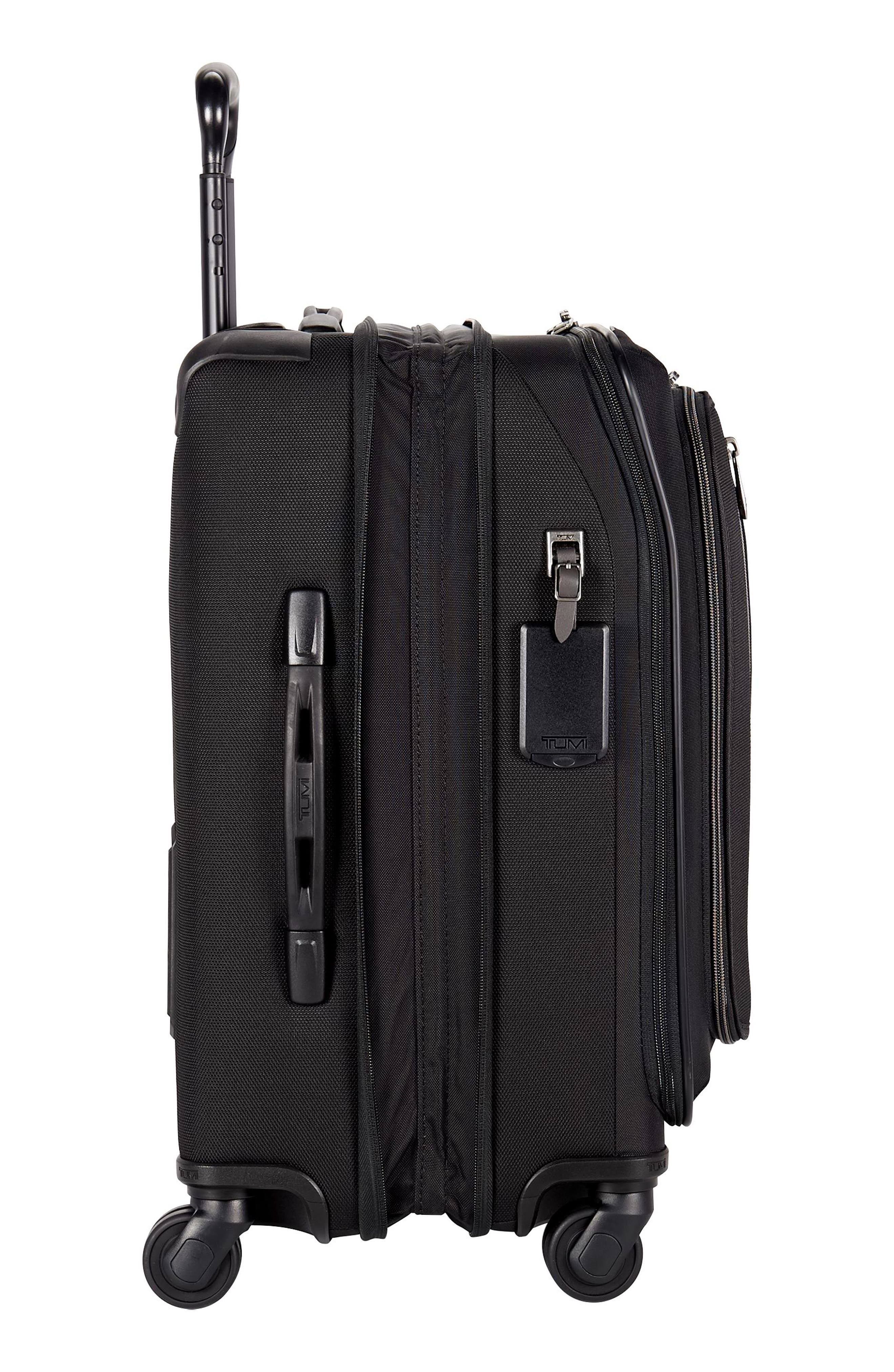 Merge - 22-Inch Continental Expandable Rolling Carry-On,                             Alternate thumbnail 4, color,                             BLACK CONTRAST