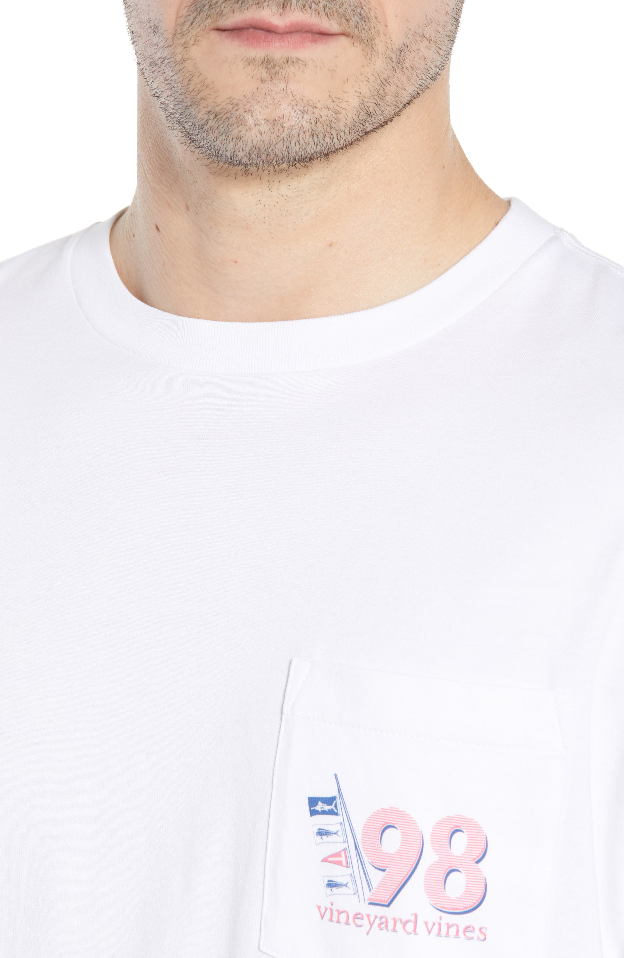 Sportfisher Regular Fit Crewneck T-Shirt,                             Alternate thumbnail 4, color,                             100