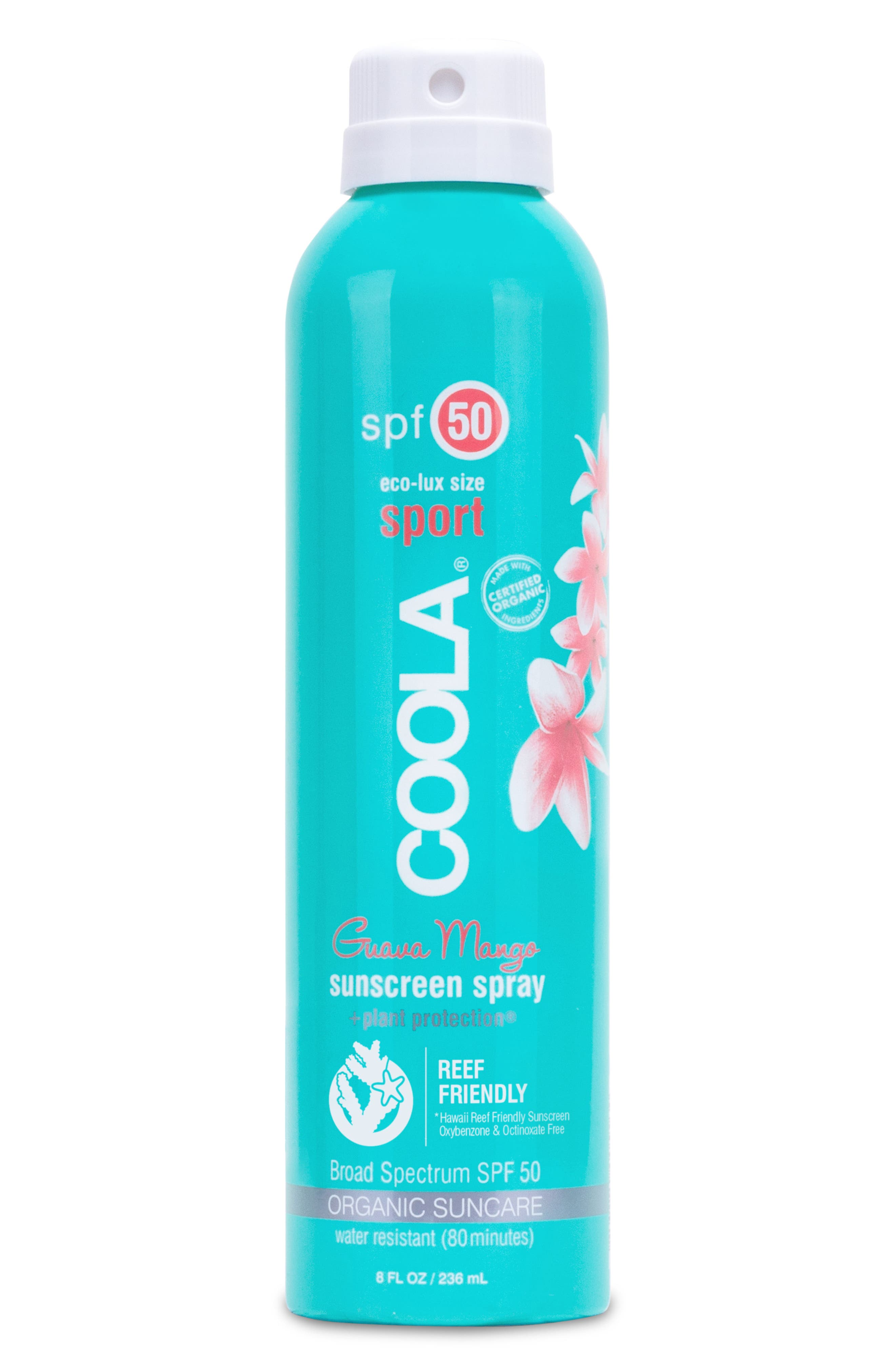 Coola Suncare Guava Mango Eco-Lux Sport Sunscreen Spray Spf 50