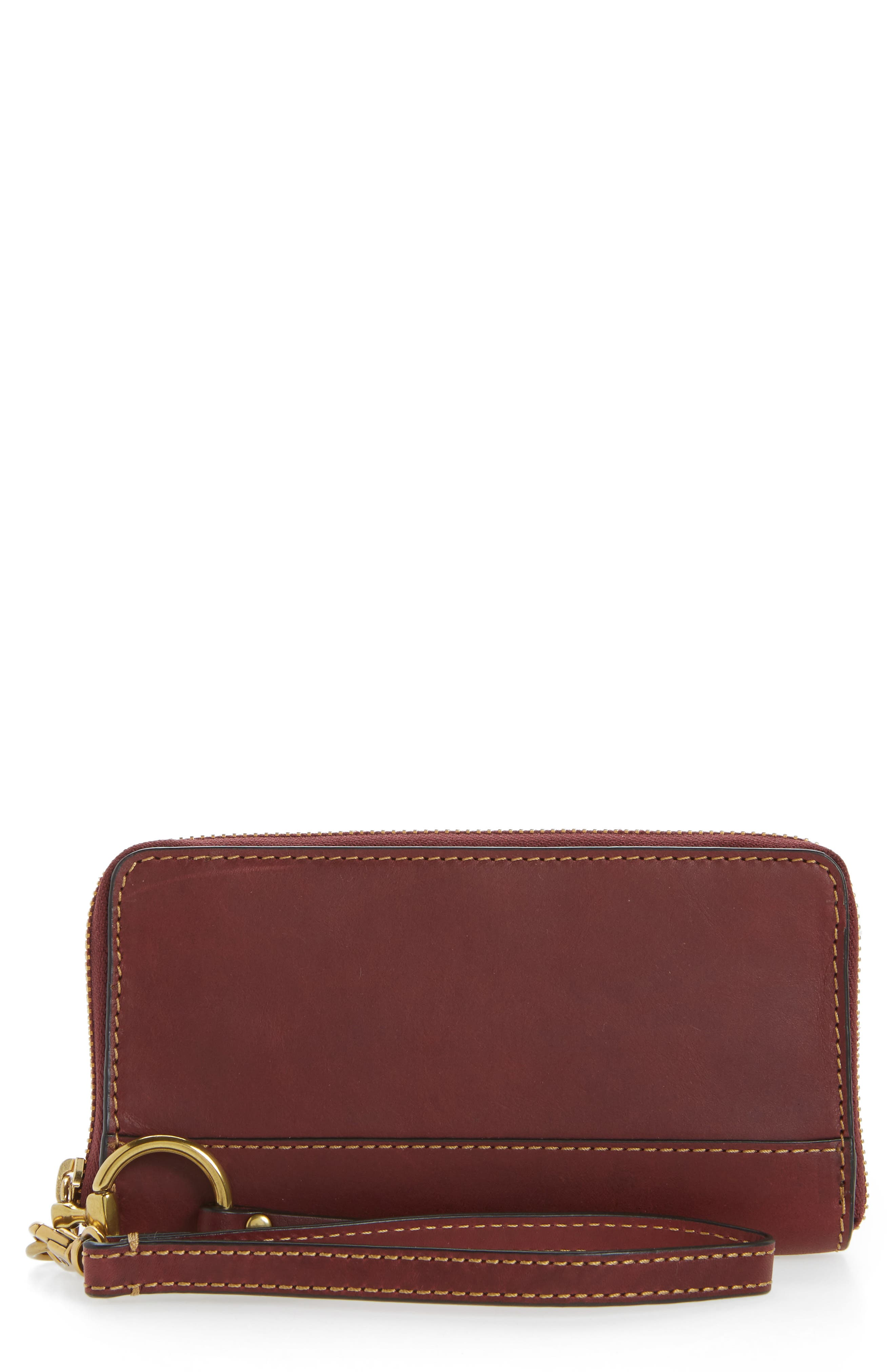 Ilana Harness Phone Leather Zip Wallet,                             Main thumbnail 2, color,
