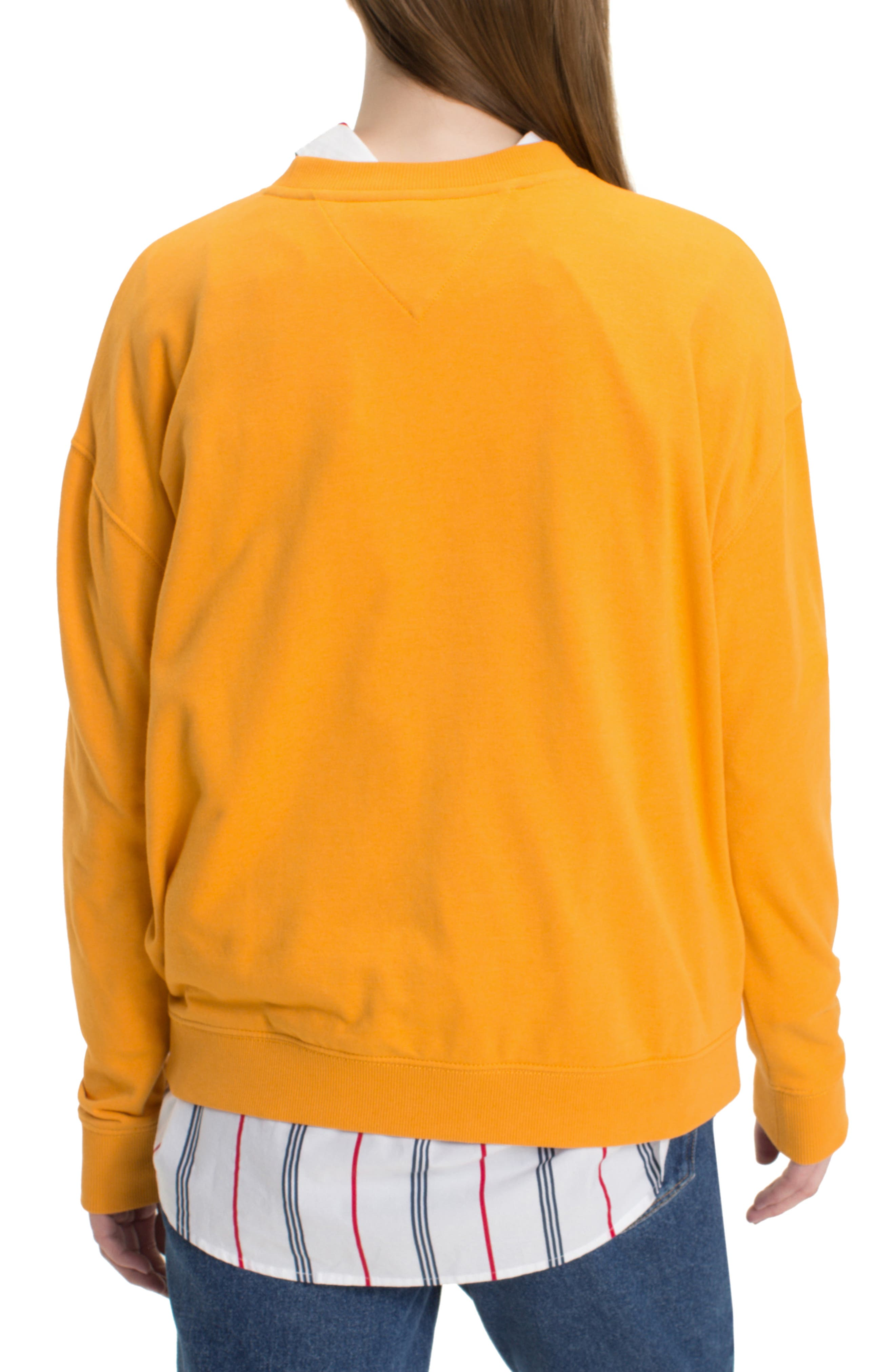 TJW Have A Nice Day Sweatshirt,                             Alternate thumbnail 2, color,                             BUTTERSCOTCH