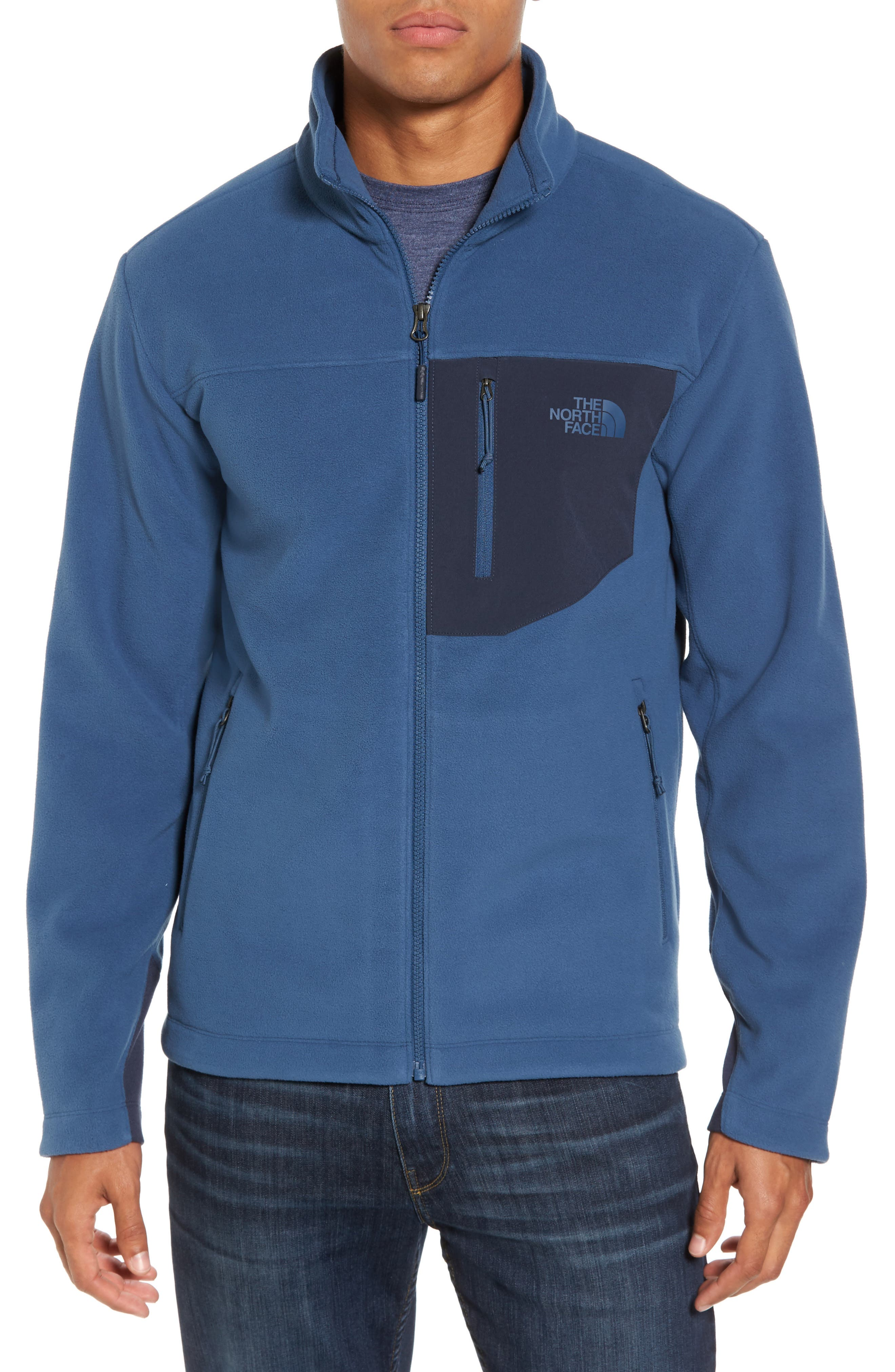 'Chimborazo' Zip Front Fleece Jacket,                             Main thumbnail 3, color,