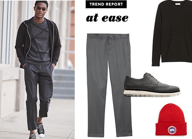 Men's what's now trend: at ease.