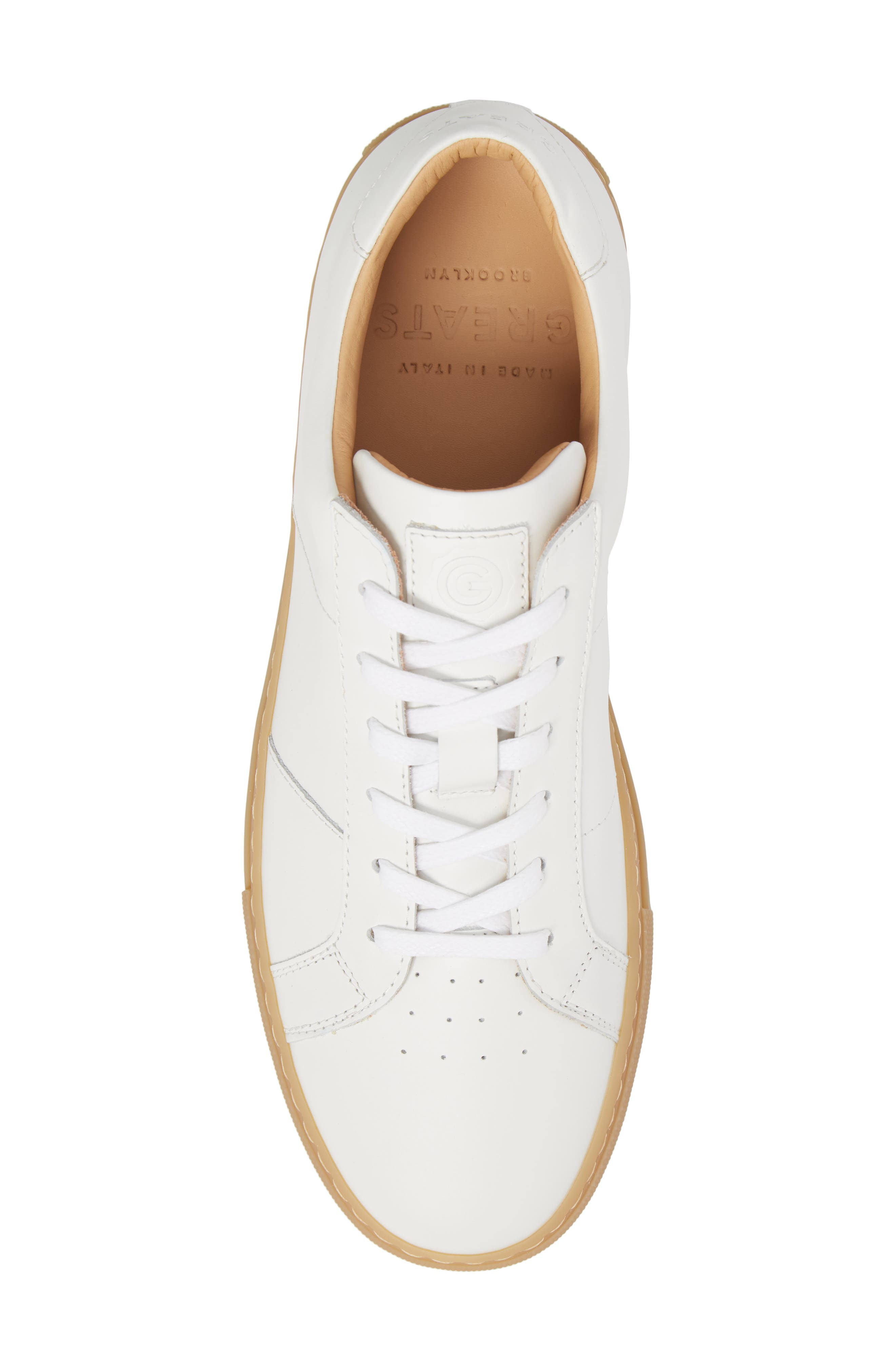 Royale Reverse Sneaker,                             Alternate thumbnail 5, color,                             WHITE/ GUM