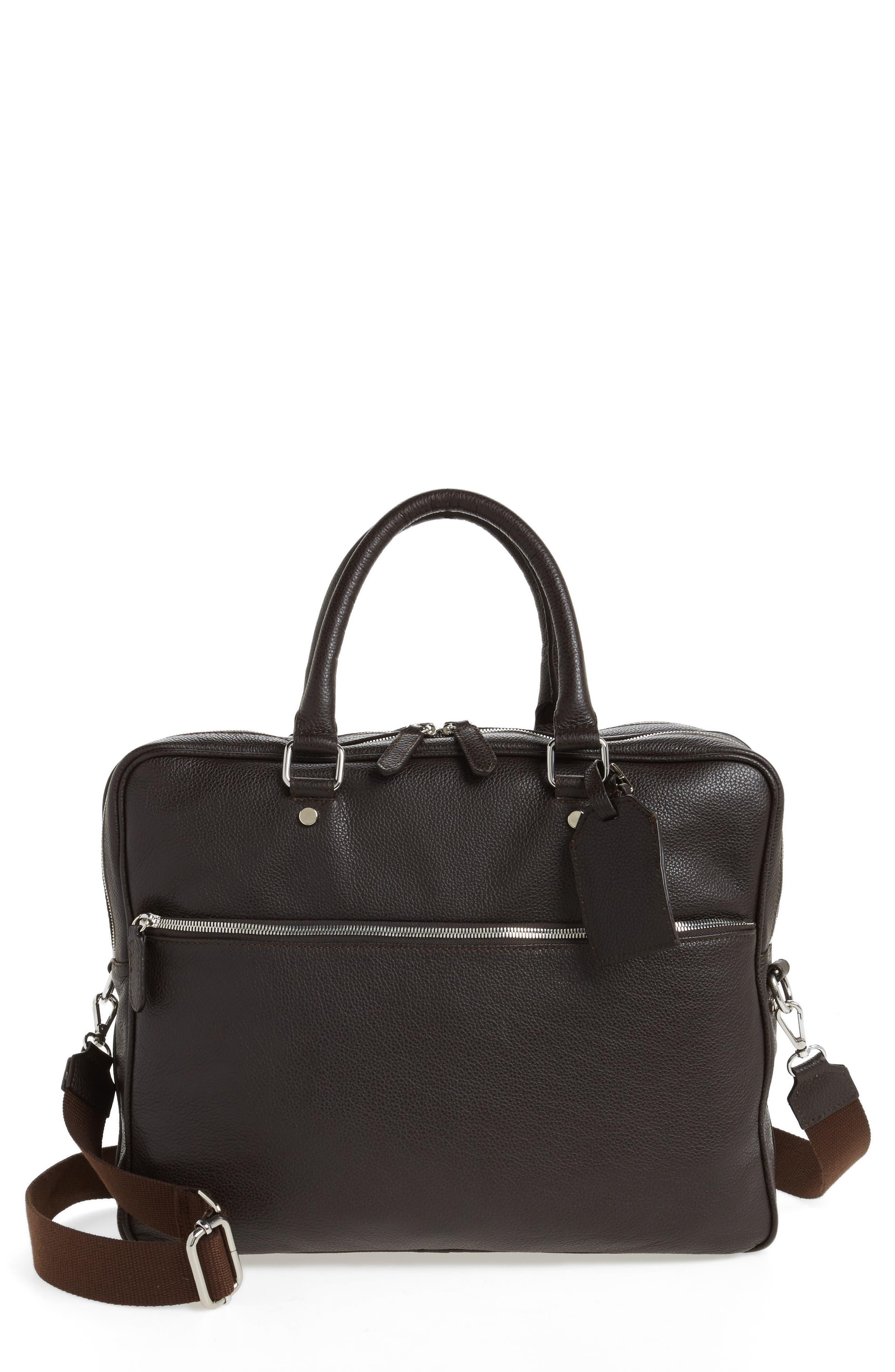 Leather Laptop Bag,                             Main thumbnail 2, color,