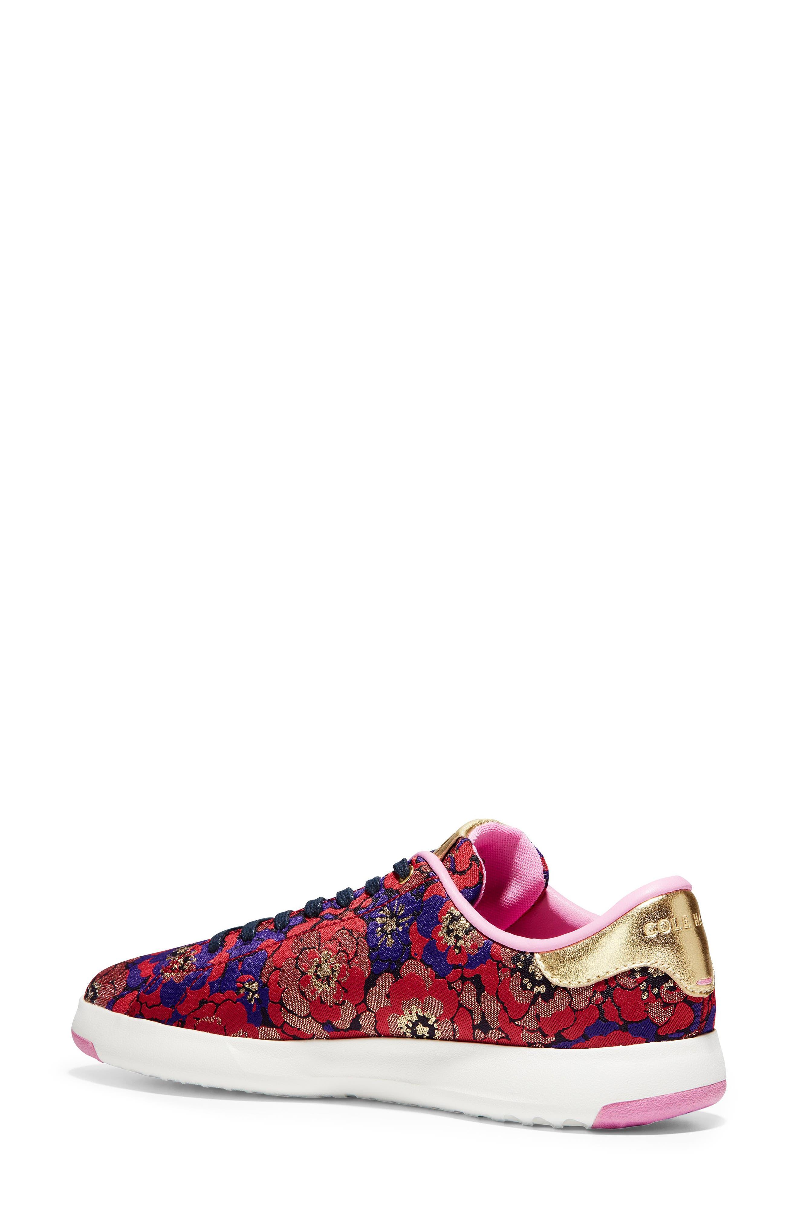GrandPro Tennis Shoe,                             Alternate thumbnail 2, color,                             GOLD BROCADE FABRIC
