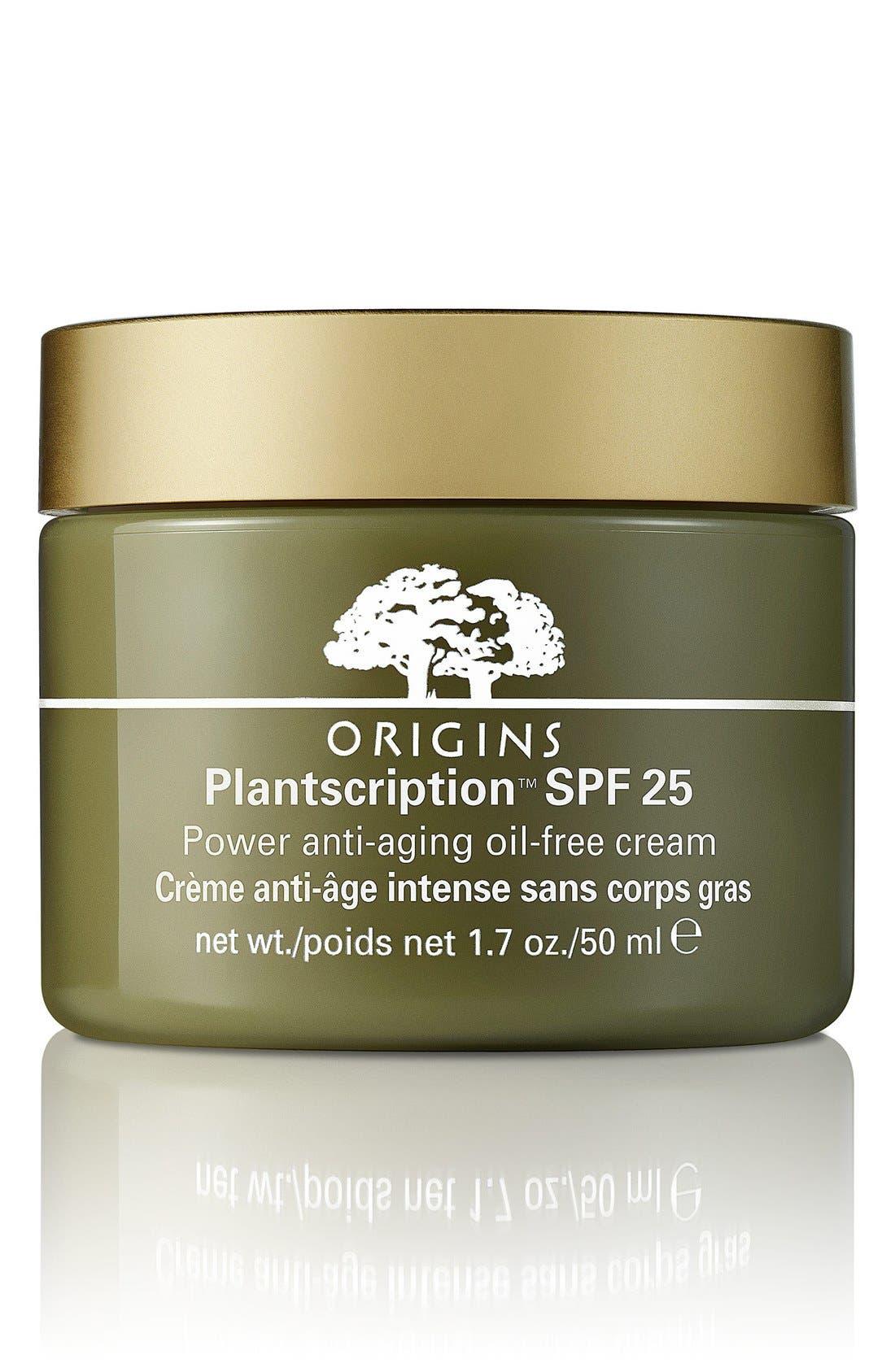 Plantscription<sup>™</sup> SPF 25 Power Anti-Aging Oil-Free Cream,                             Main thumbnail 1, color,                             NO COLOR