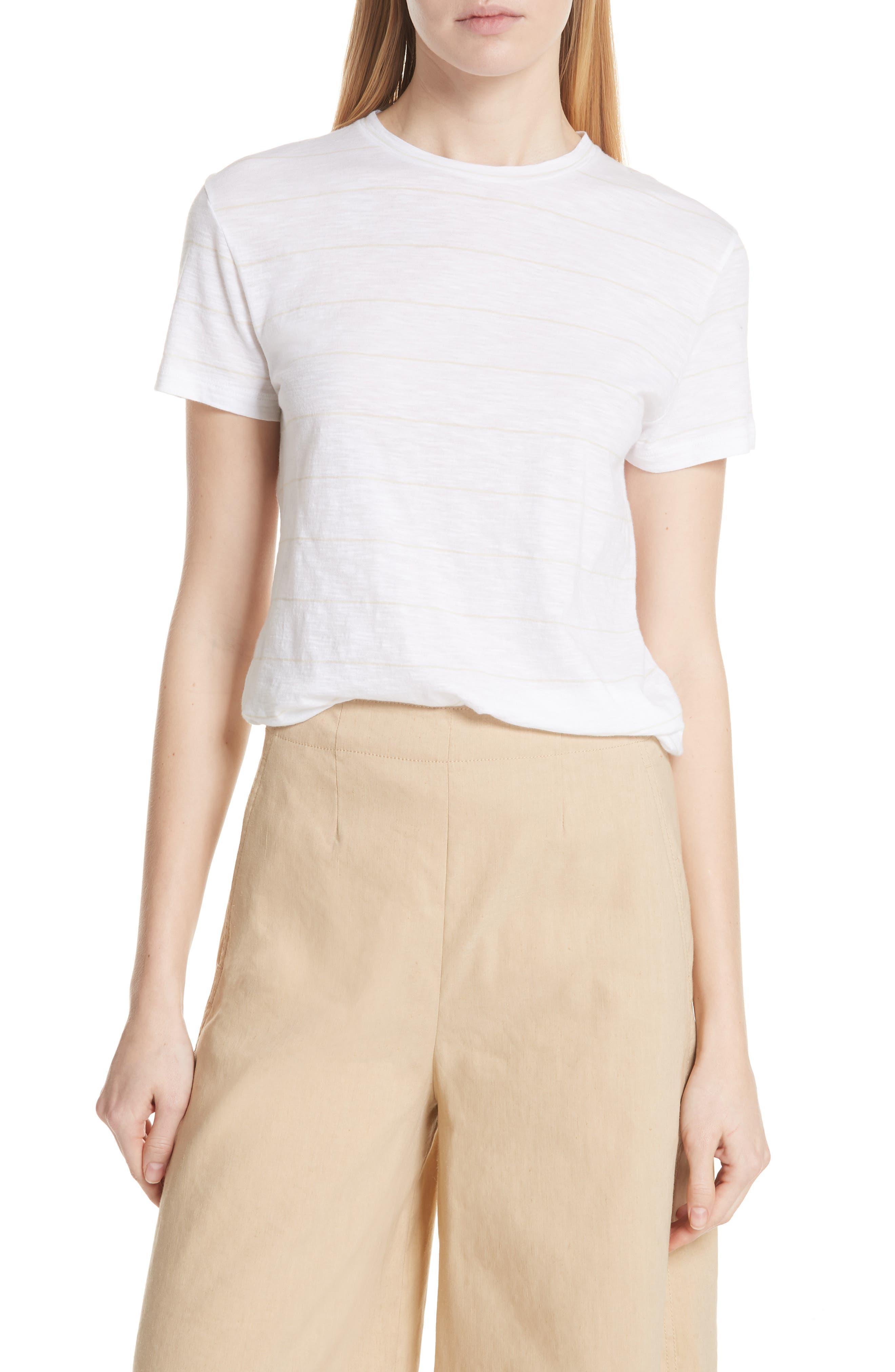 Skinny Stripe Pima Cotton Top,                         Main,                         color, 106