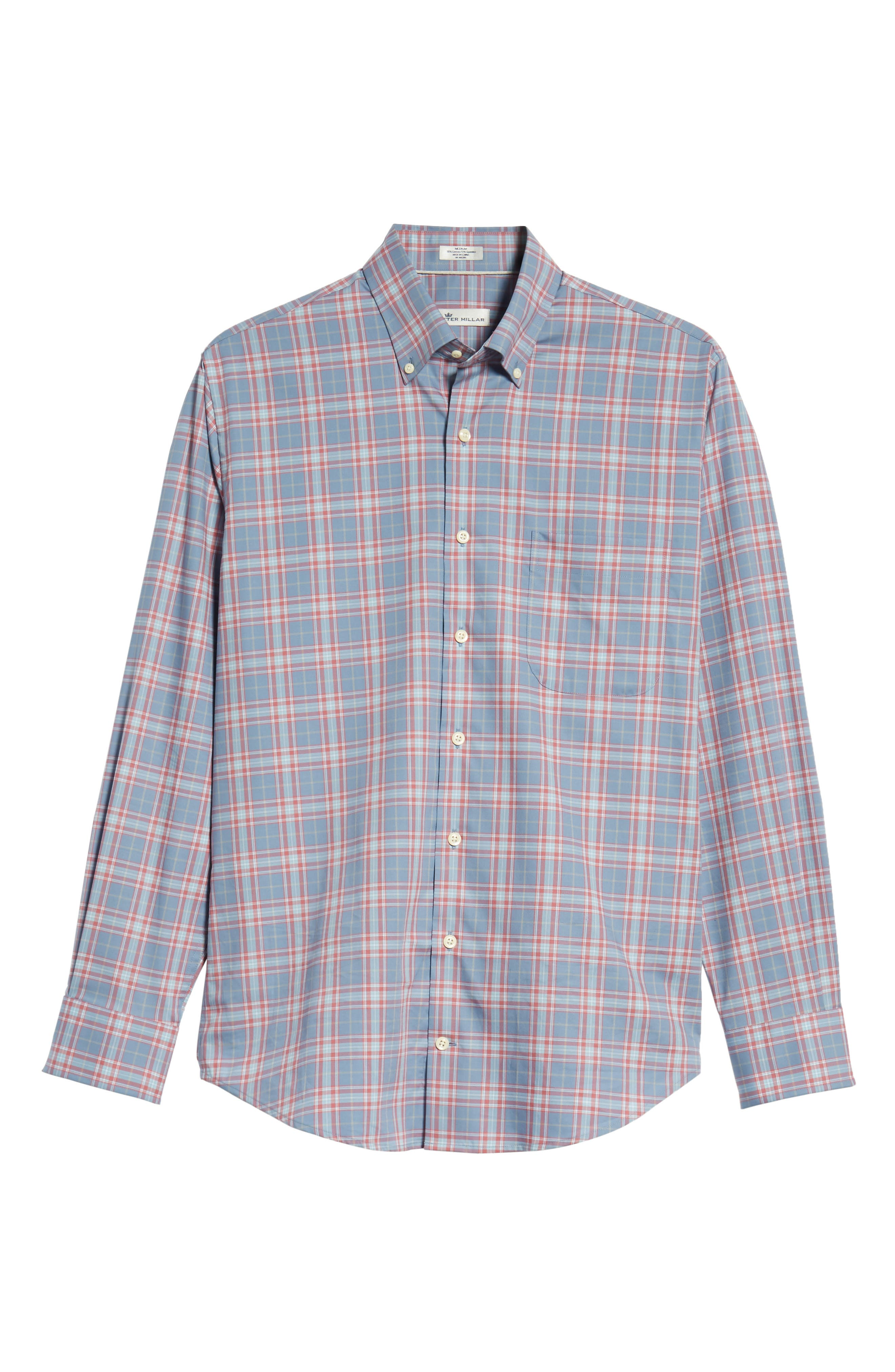 Crown Ease Archipelago Regular Fit Plaid Sport Shirt,                             Alternate thumbnail 5, color,                             524