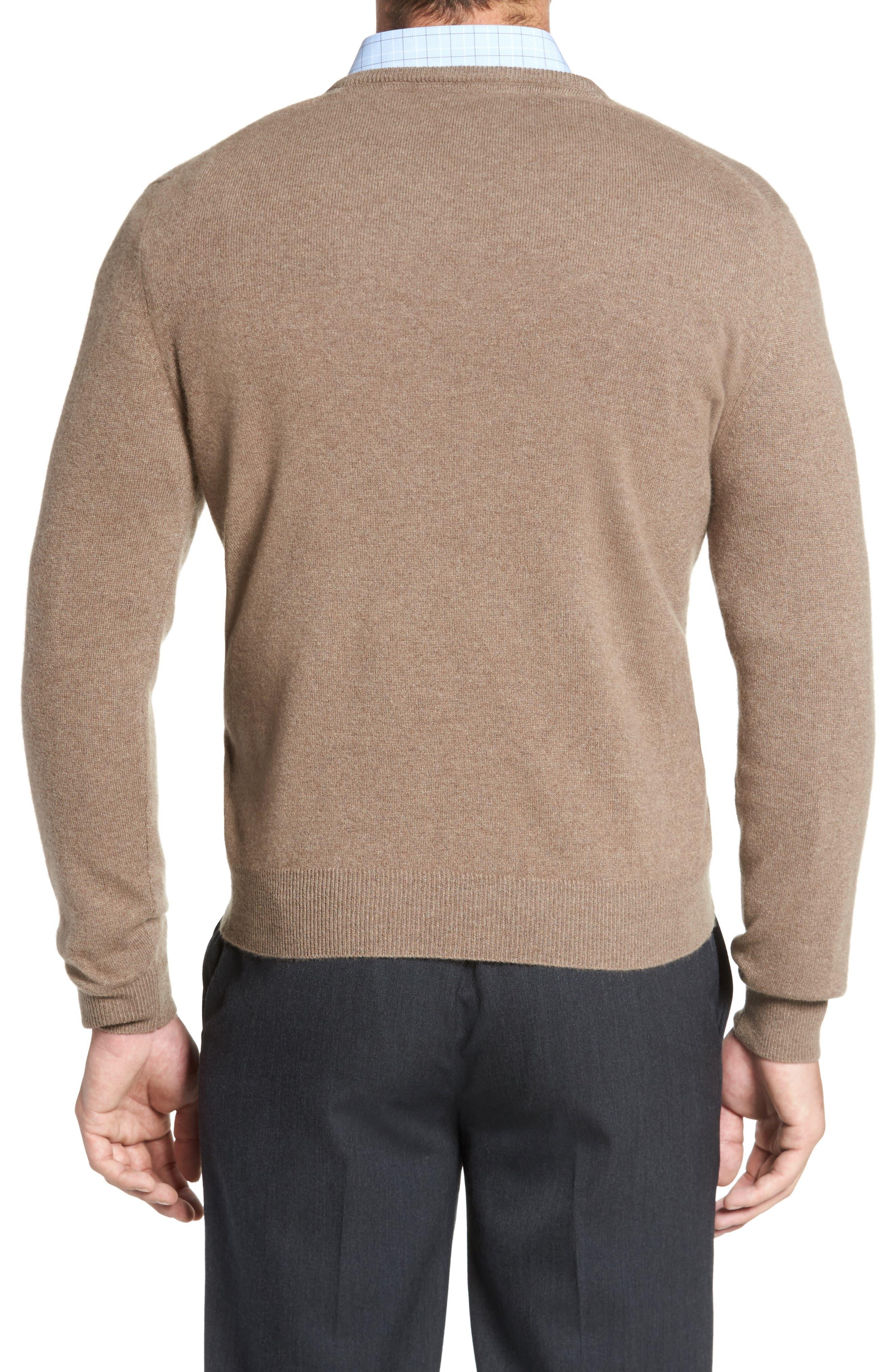 Cashmere V-Neck Sweater,                             Alternate thumbnail 9, color,